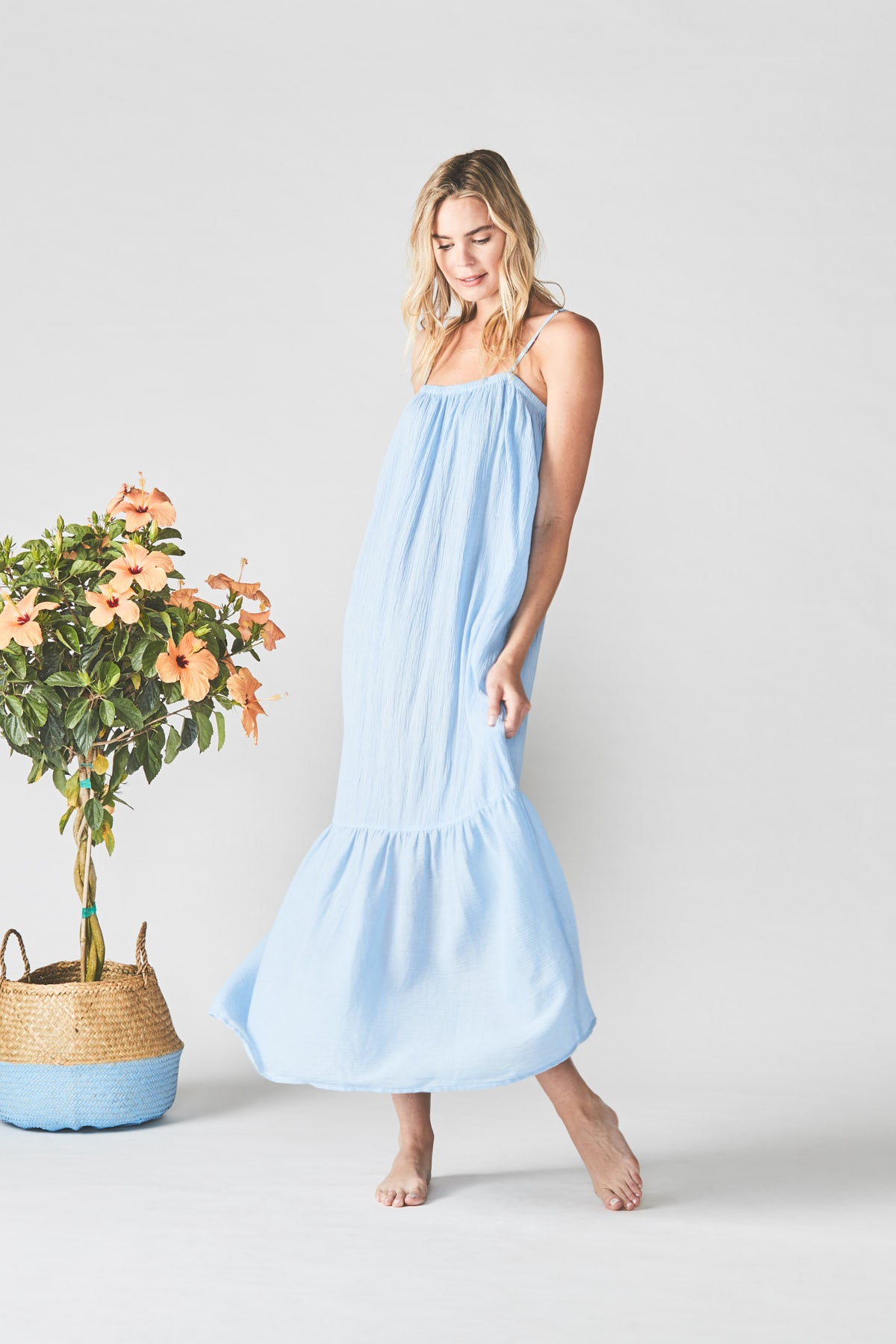 Resort Dress in Tide