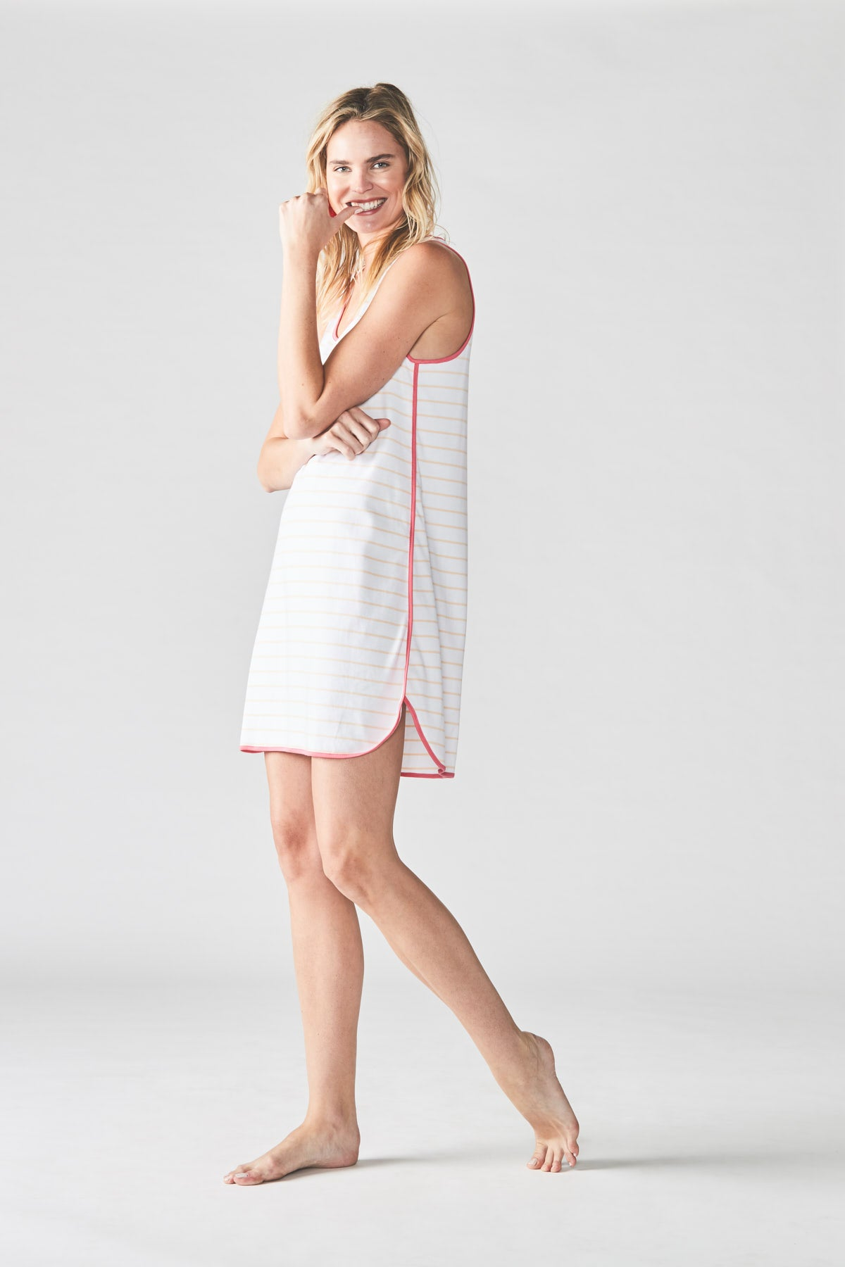 Pima Tank Gown in Shell