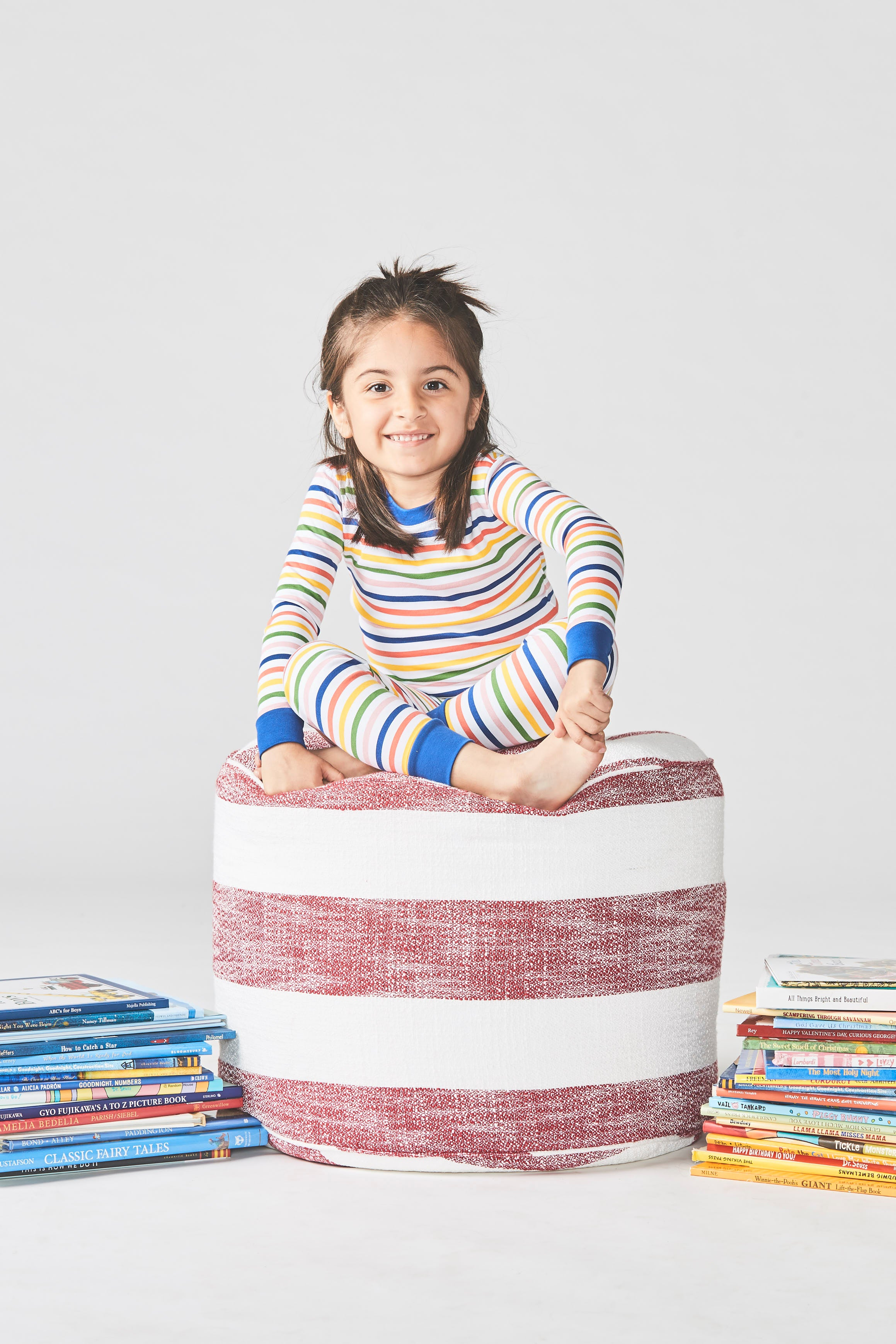 Kids Long-Long Set in Maisonette Stripe