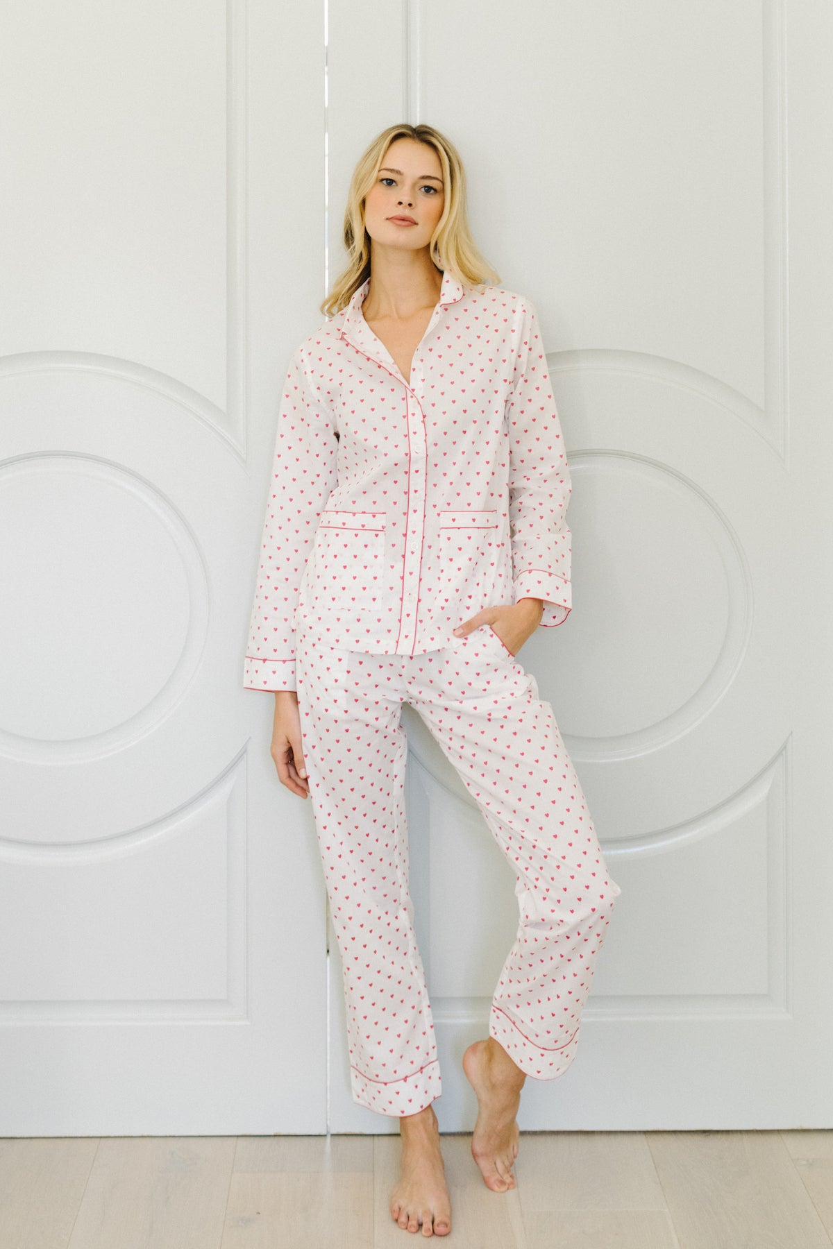 Poplin Pants Set in Amour