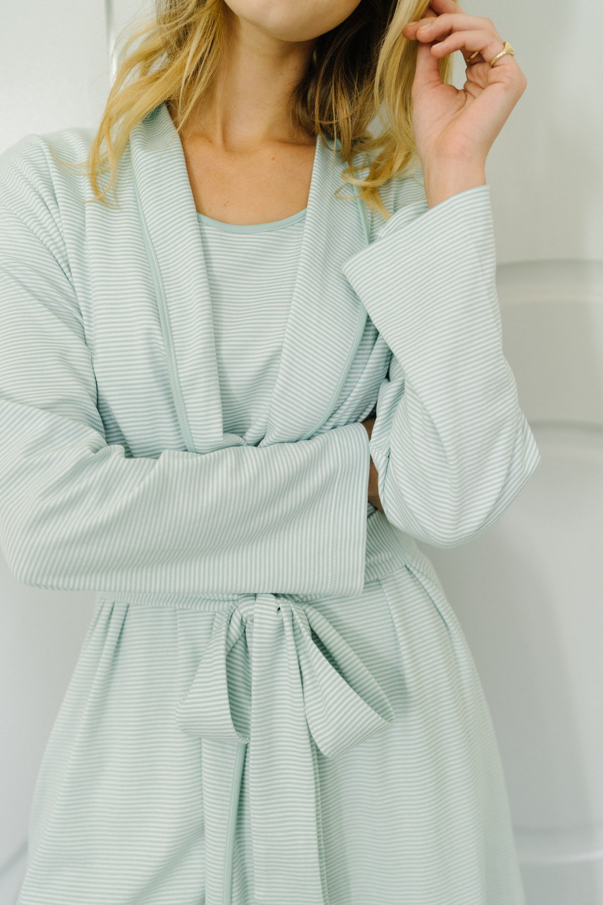 Pima Robe in Parisian Green