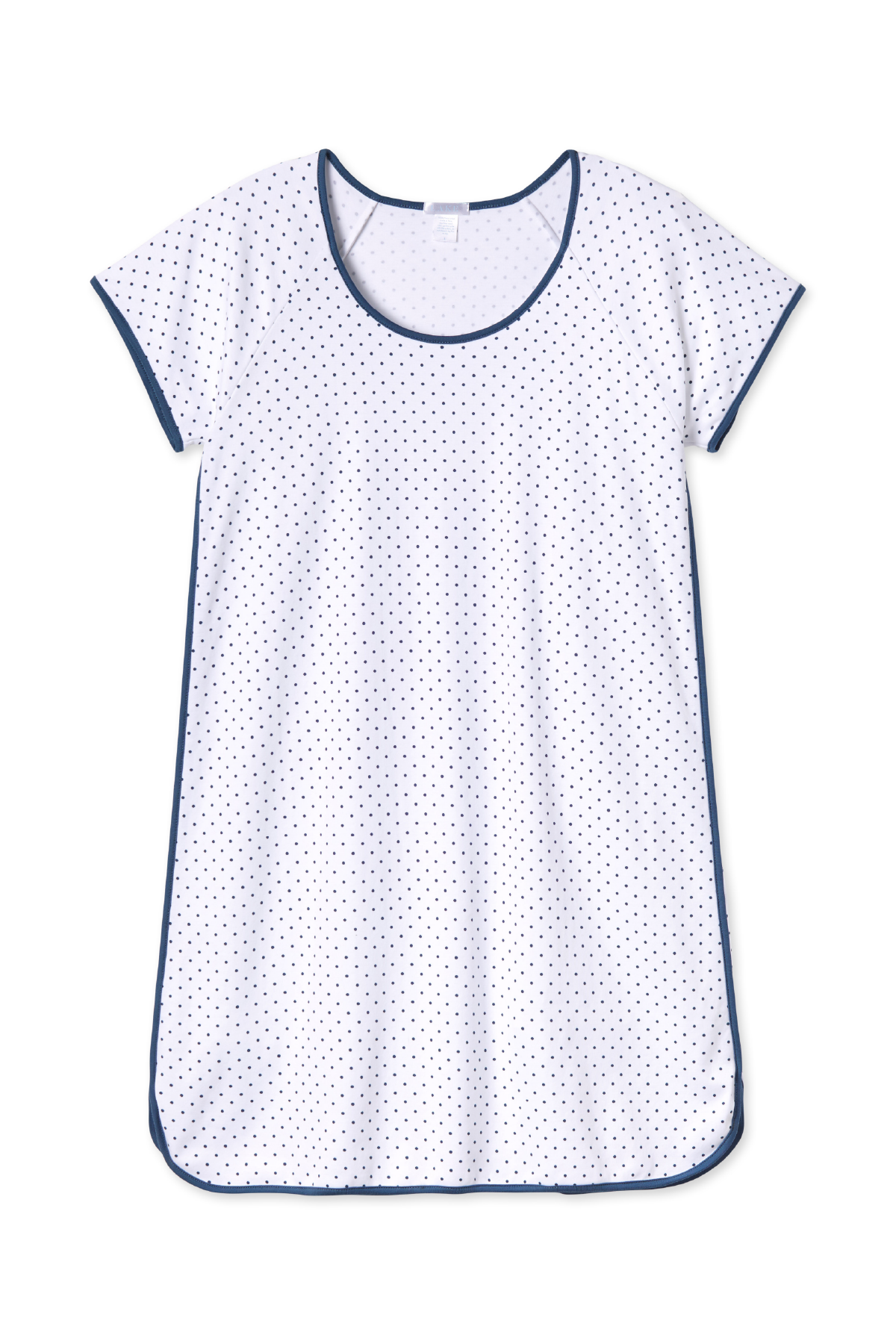 Pima Nightgown in Navy Dot