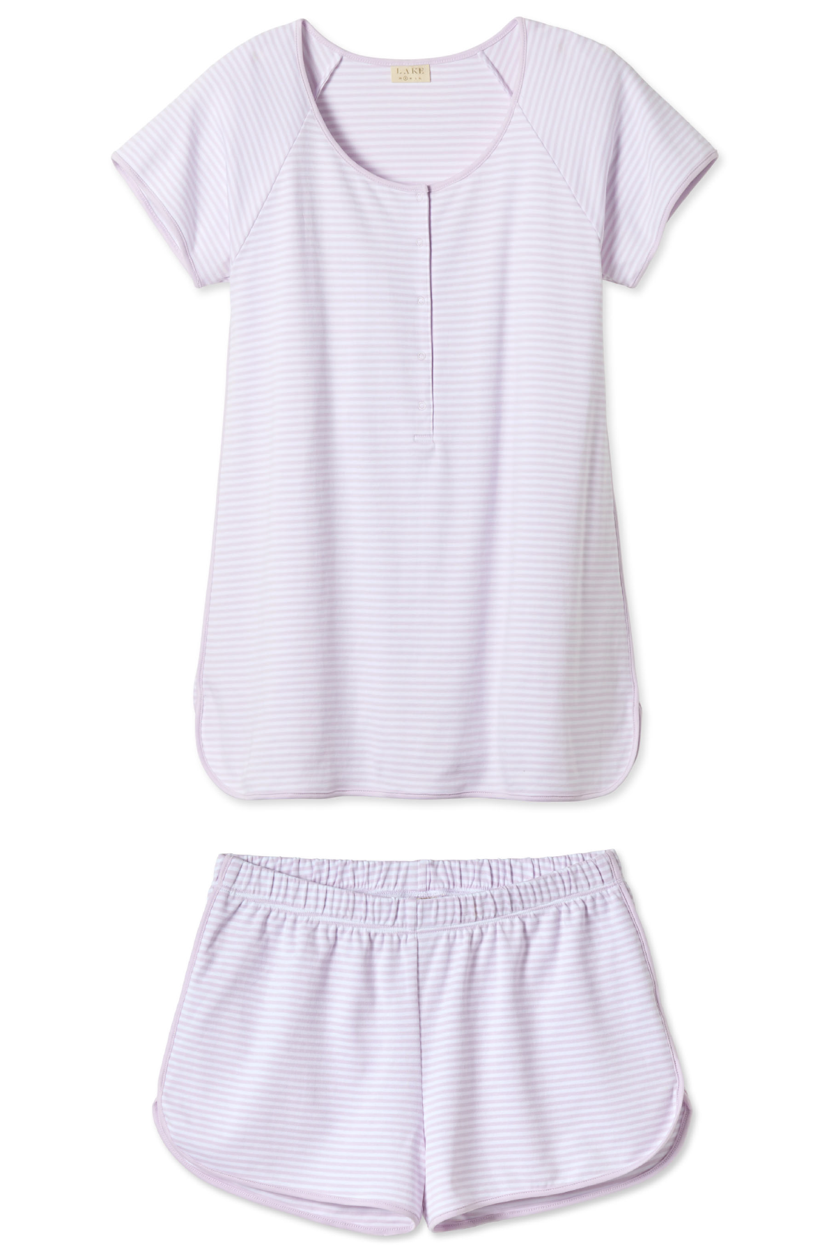 Pima Maternity Shorts Set in Lavender