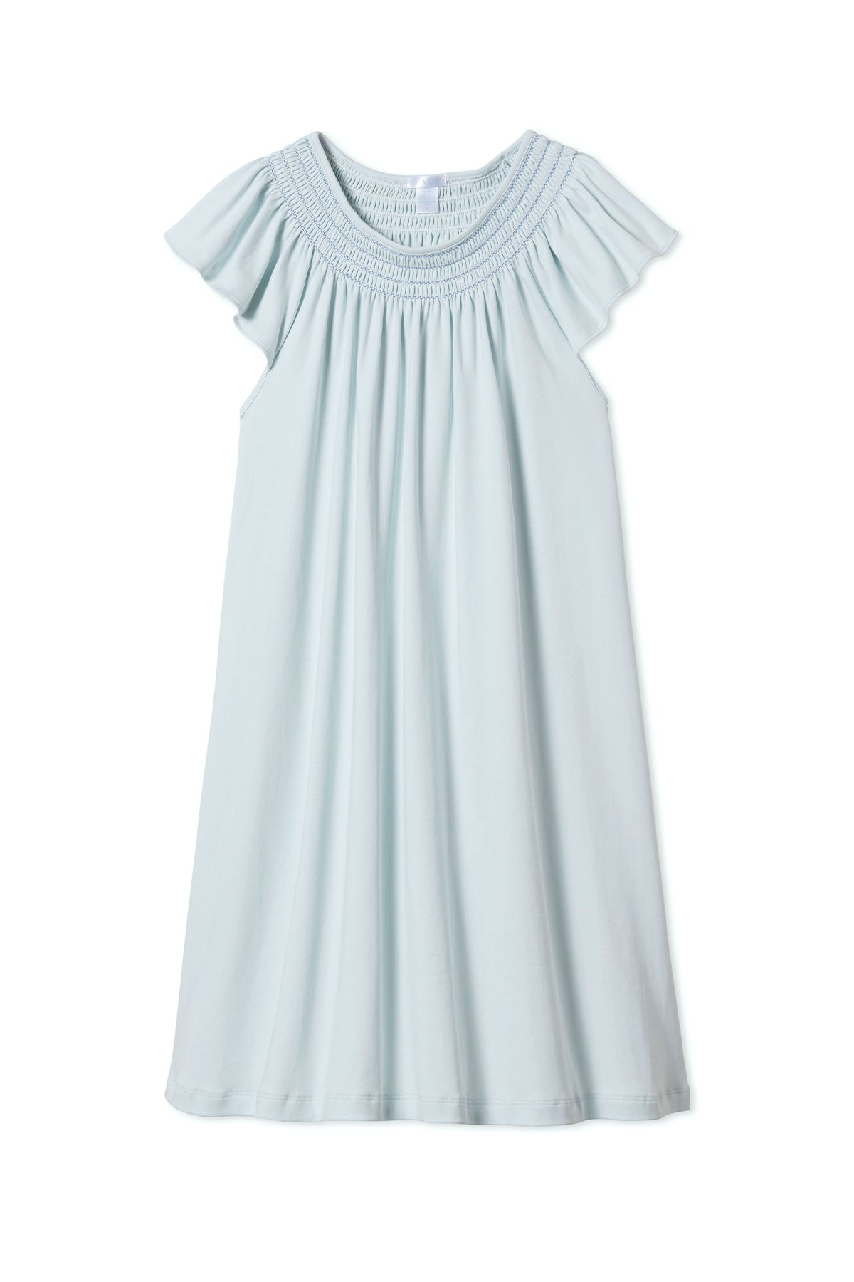 Pima Smocked Flutter Nightgown in Air