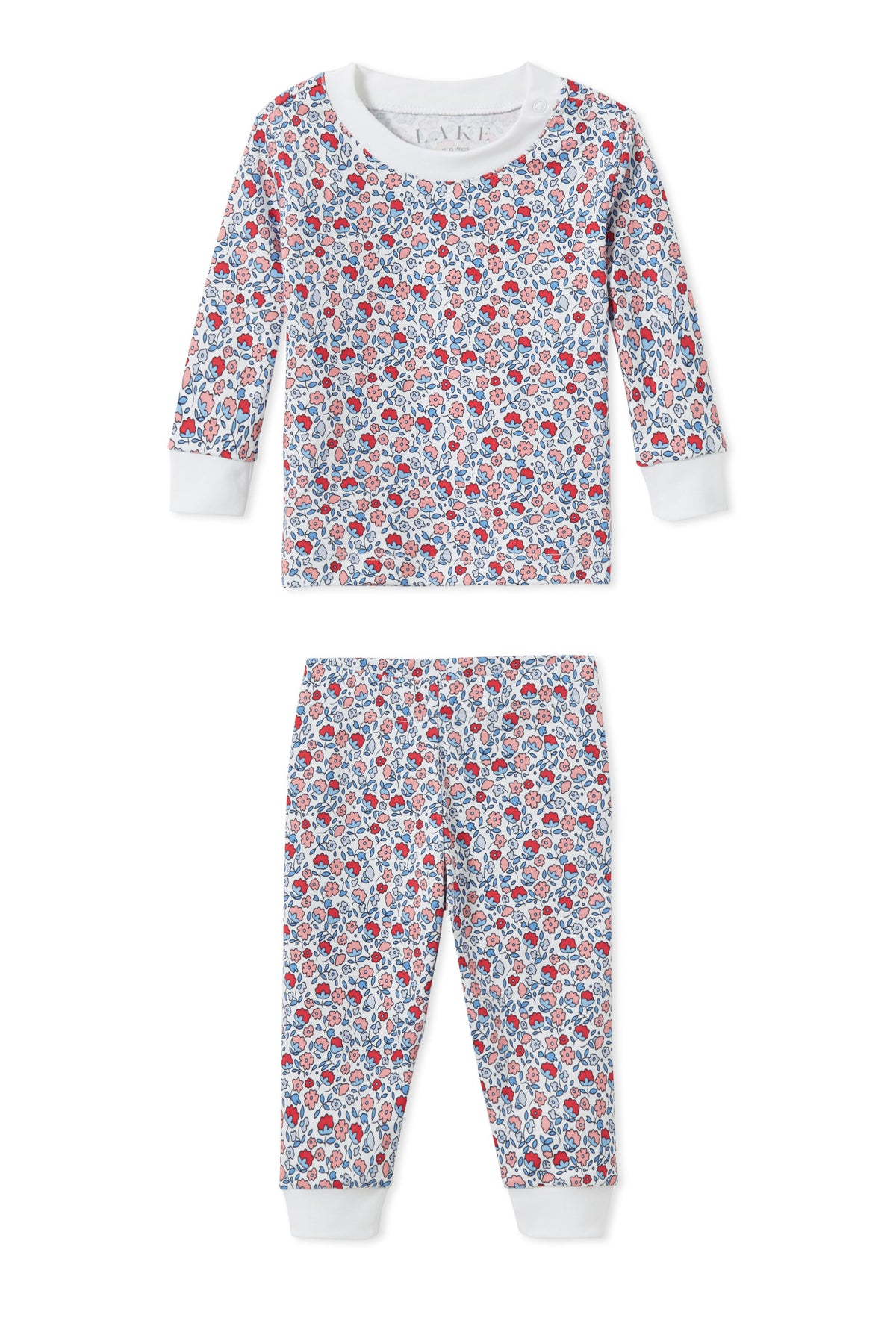 minnow x LAKE Baby Long-Long Set in Americana Floral
