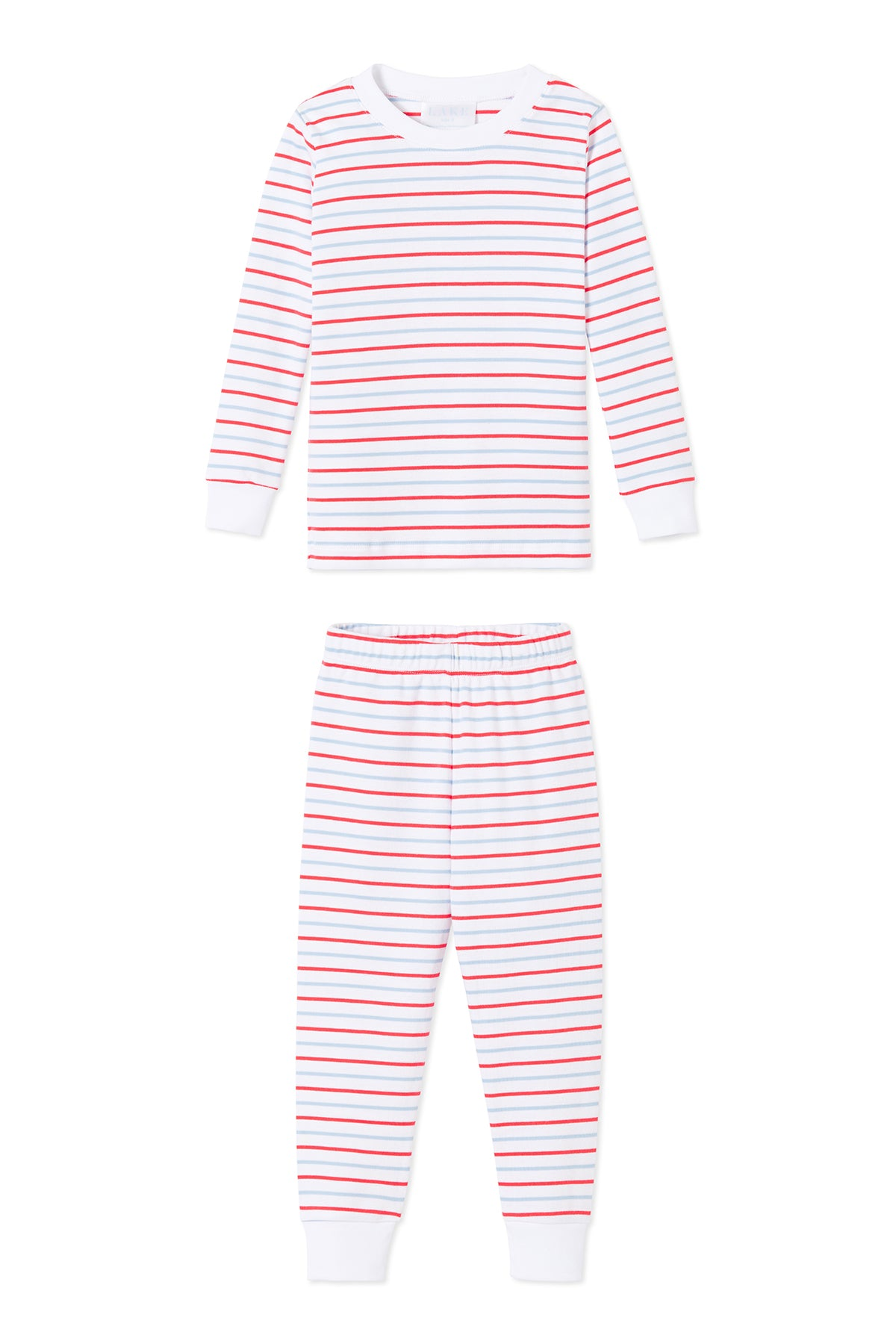 Kids Long-Long Set in Americana Stripe