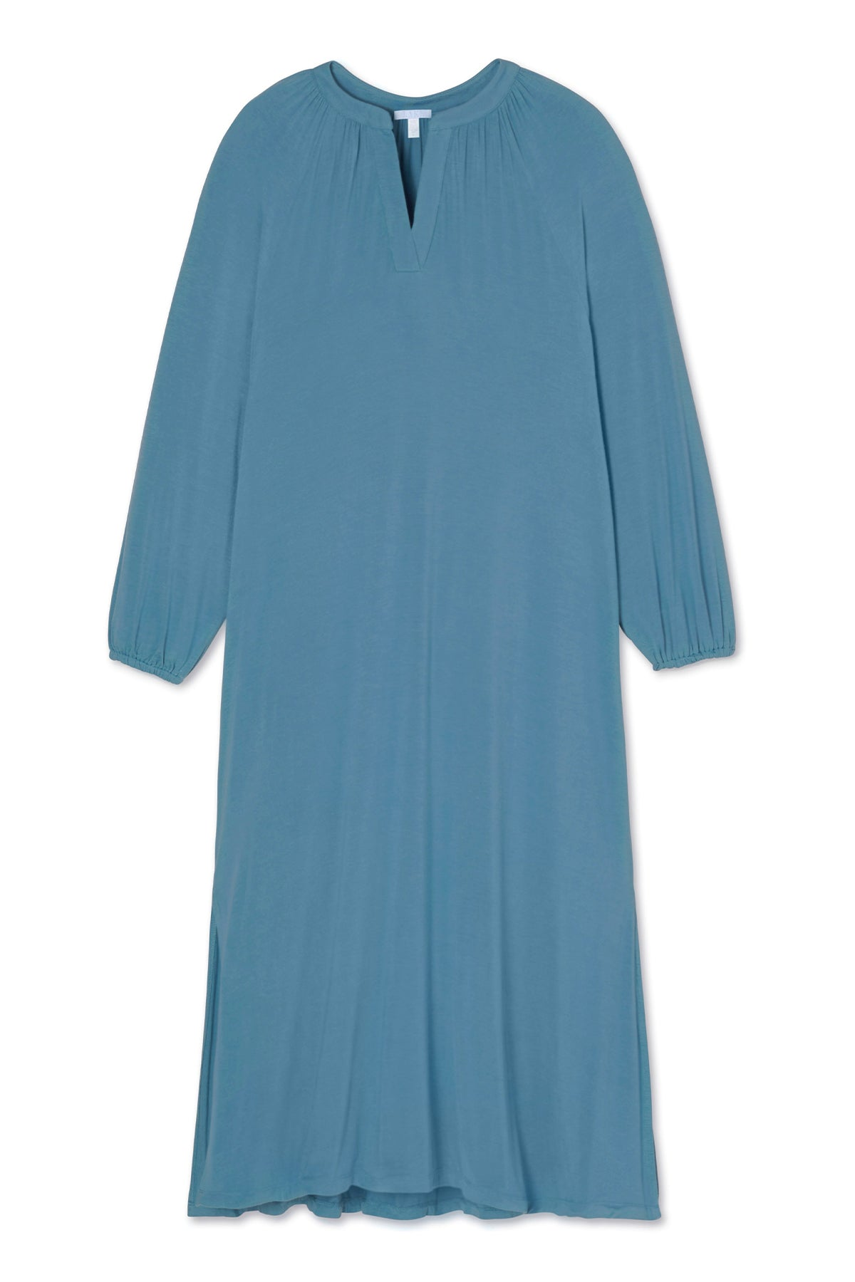 Blouson Nightgown in Steel Blue