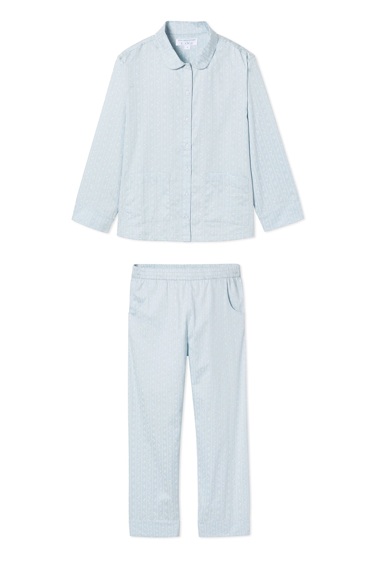 JB x LAKE Poplin Pants Set in Blue Garden