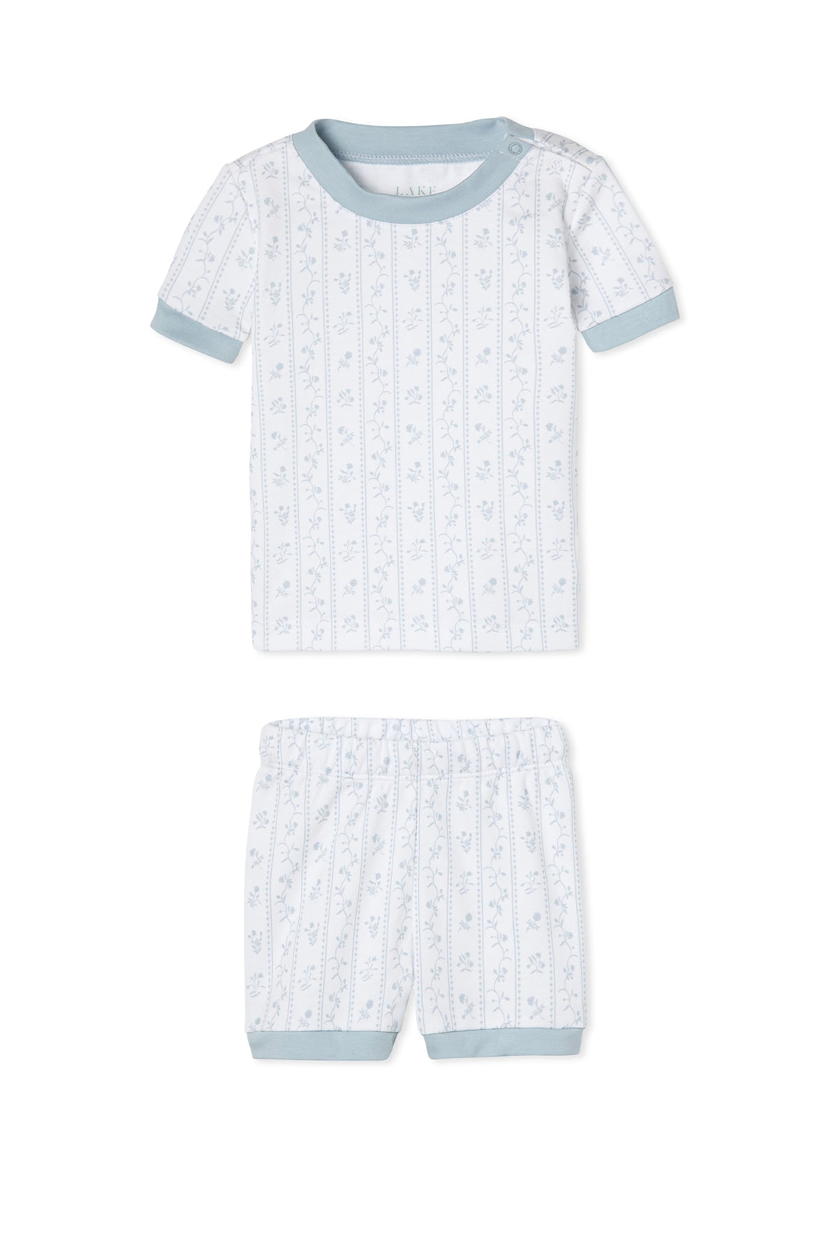 JB x LAKE Baby Shorts Set in Blue Garden