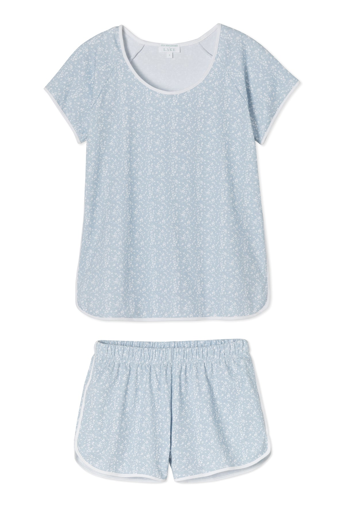 JB x LAKE Pima Shorts Set in Blue Meadow