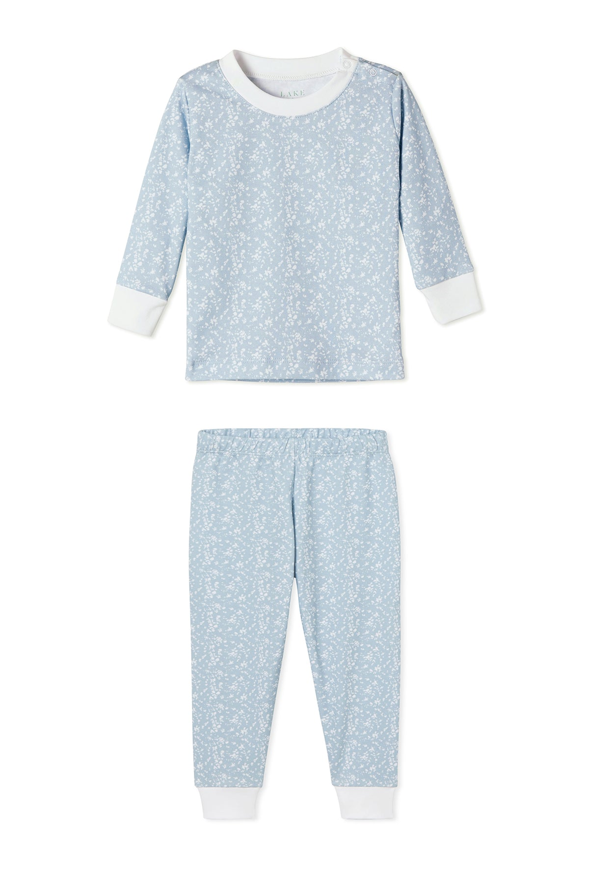JB x LAKE Baby Long-Long Set in Blue Meadow
