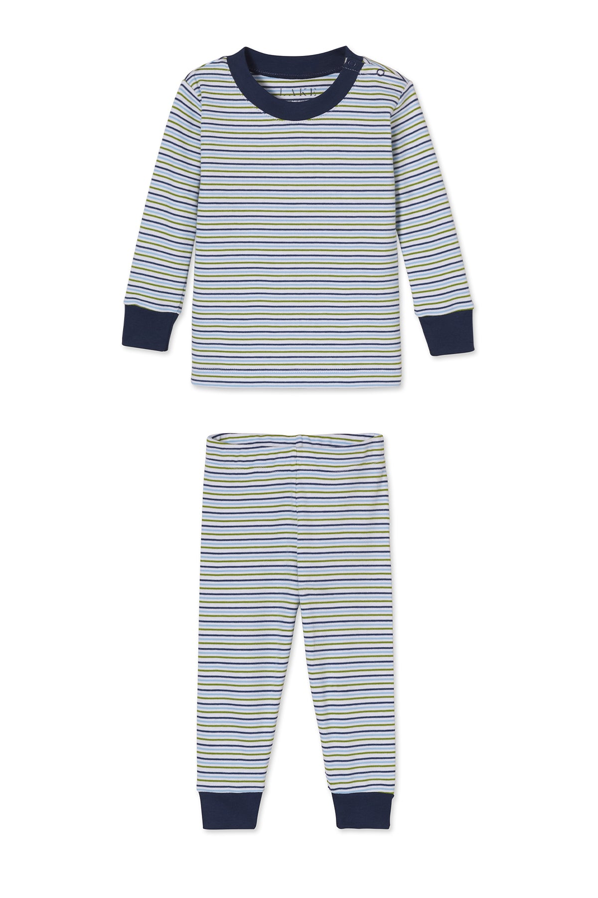 Baby Long-Long Set in Canoe Stripe