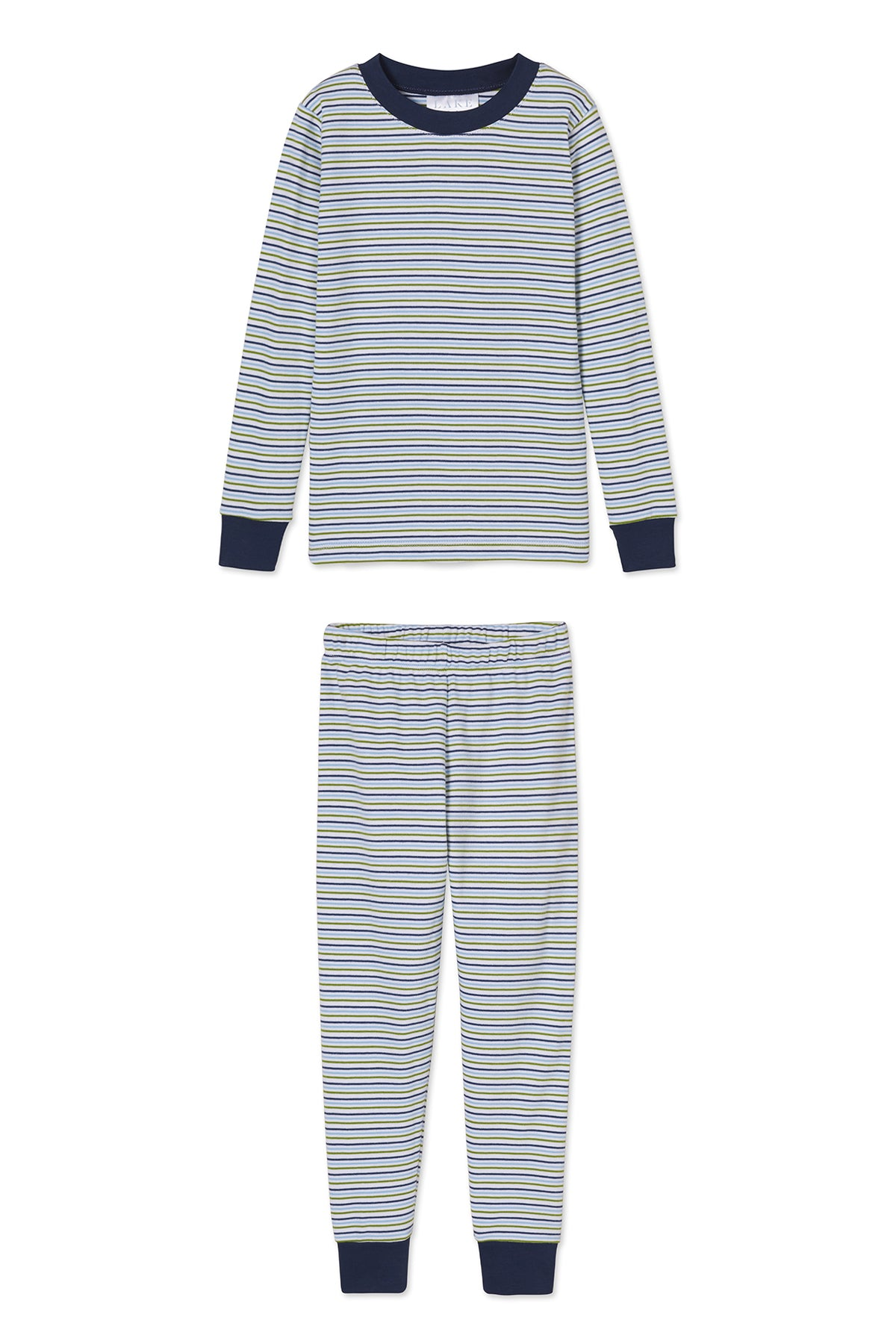 Kids Long-Long Set in Canoe Stripe