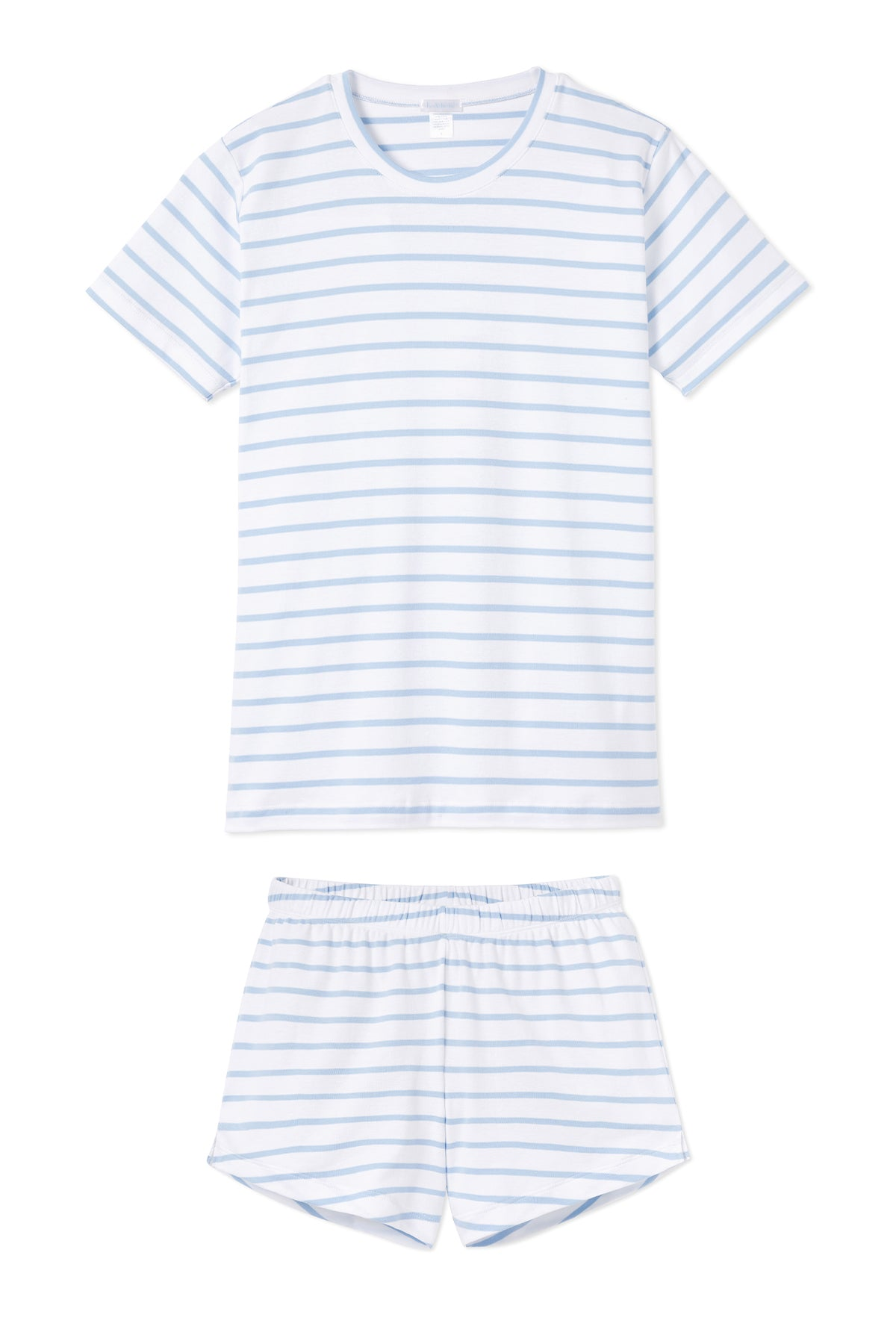 Pima Weekend Shorts Set in Cerulean