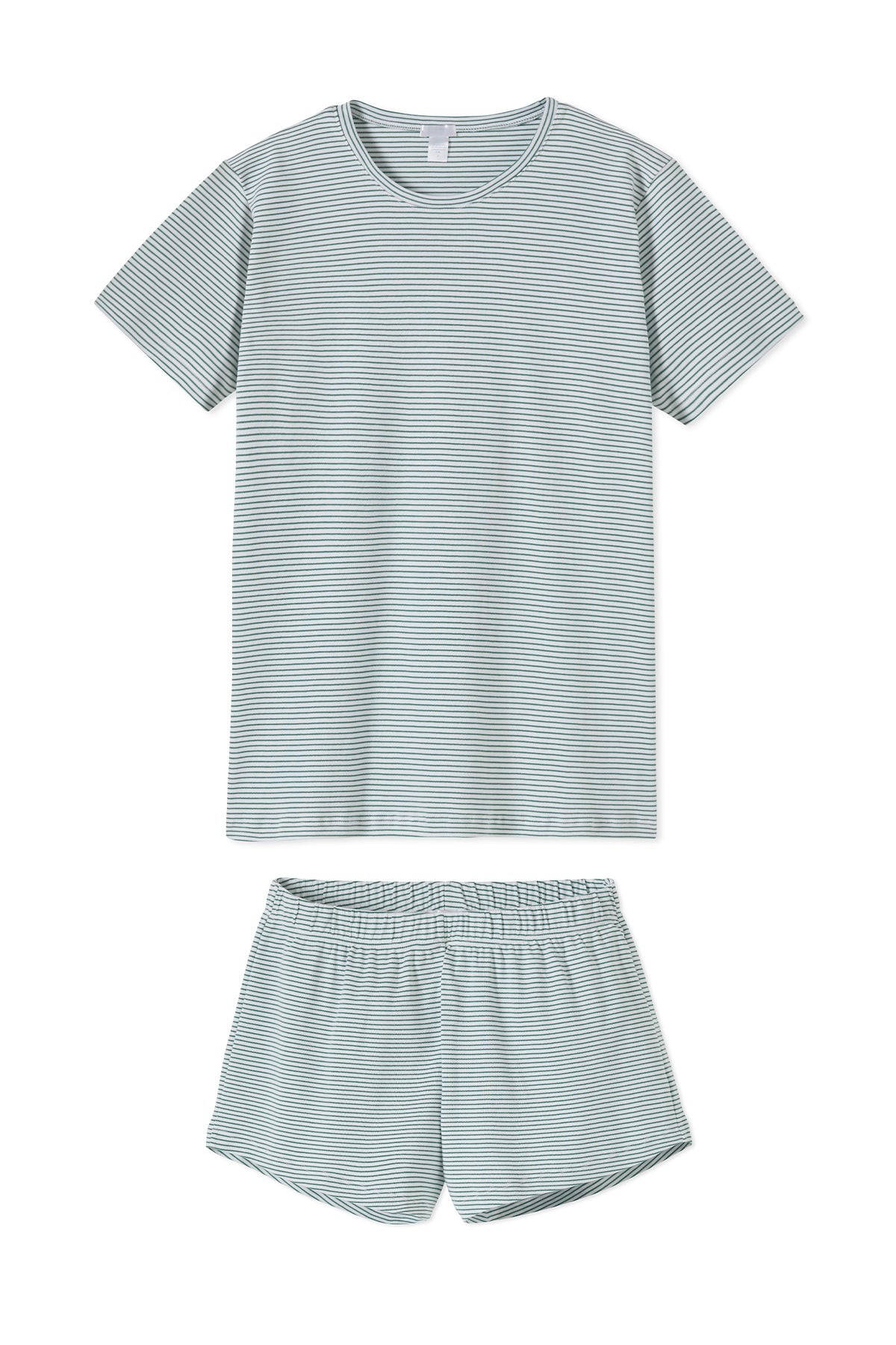 Pima Weekend Shorts Set in Classic Green