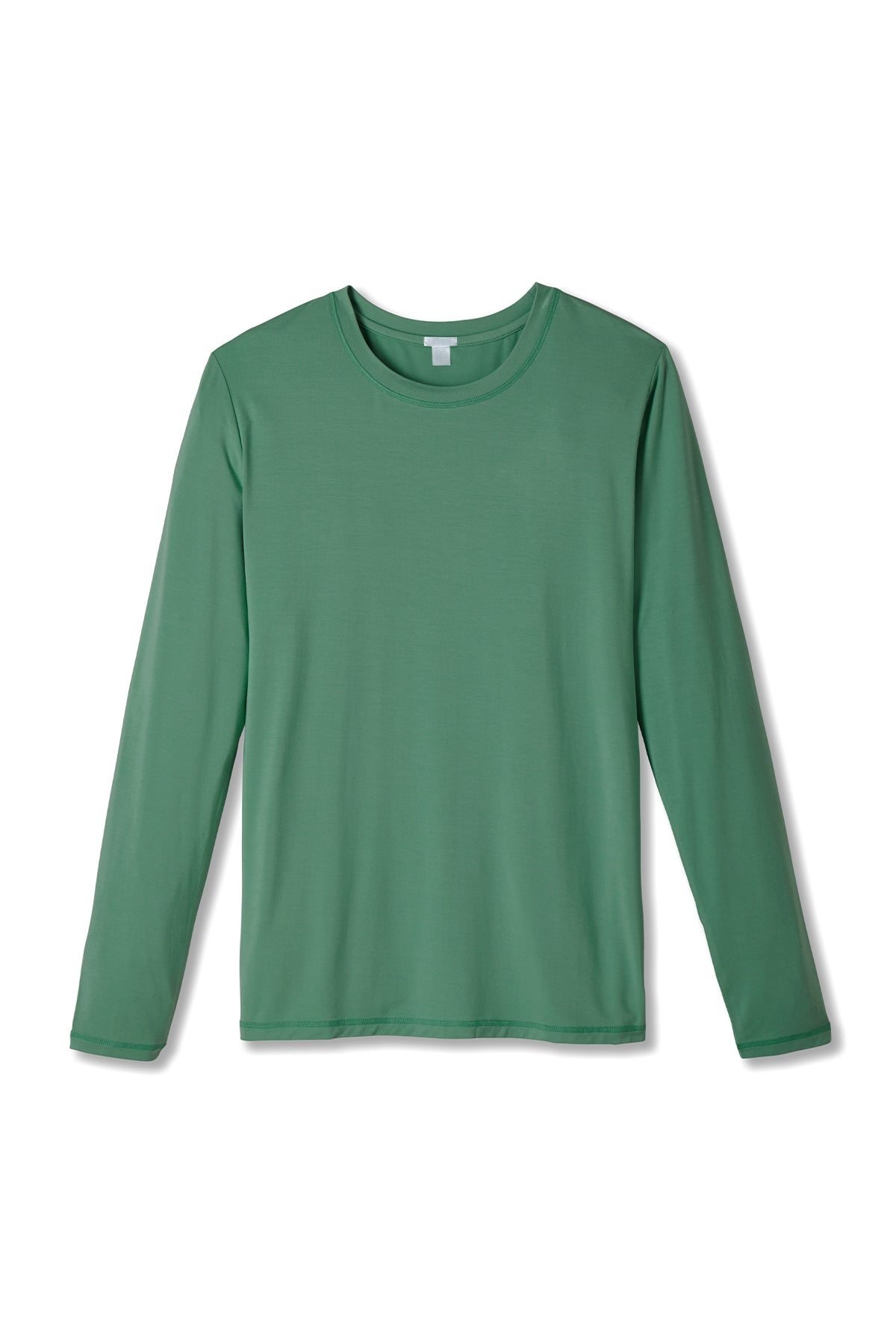 Men's Long Sleeve Pima Tee in Classic Green