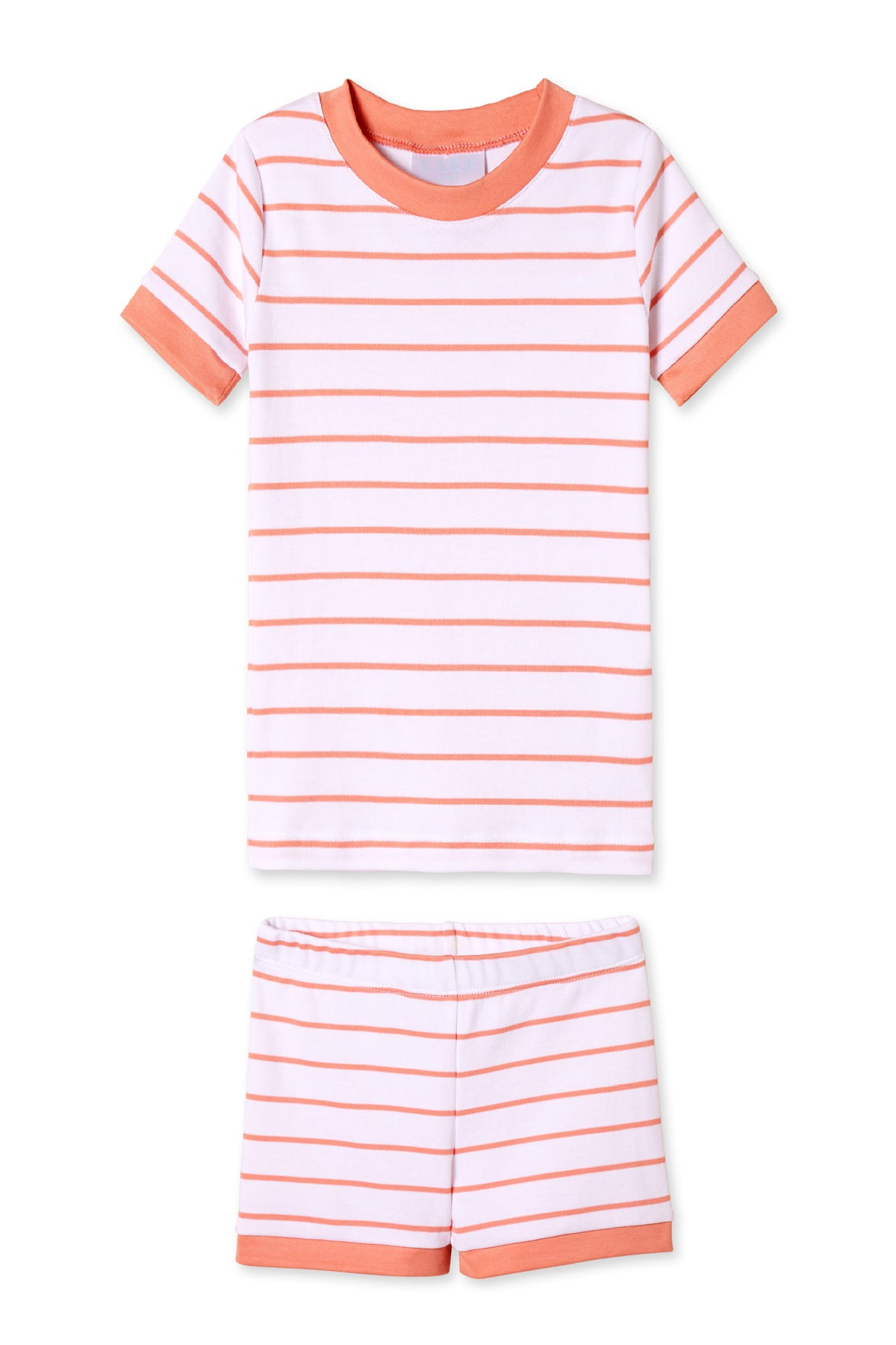 Kids Shorts Set in Coral