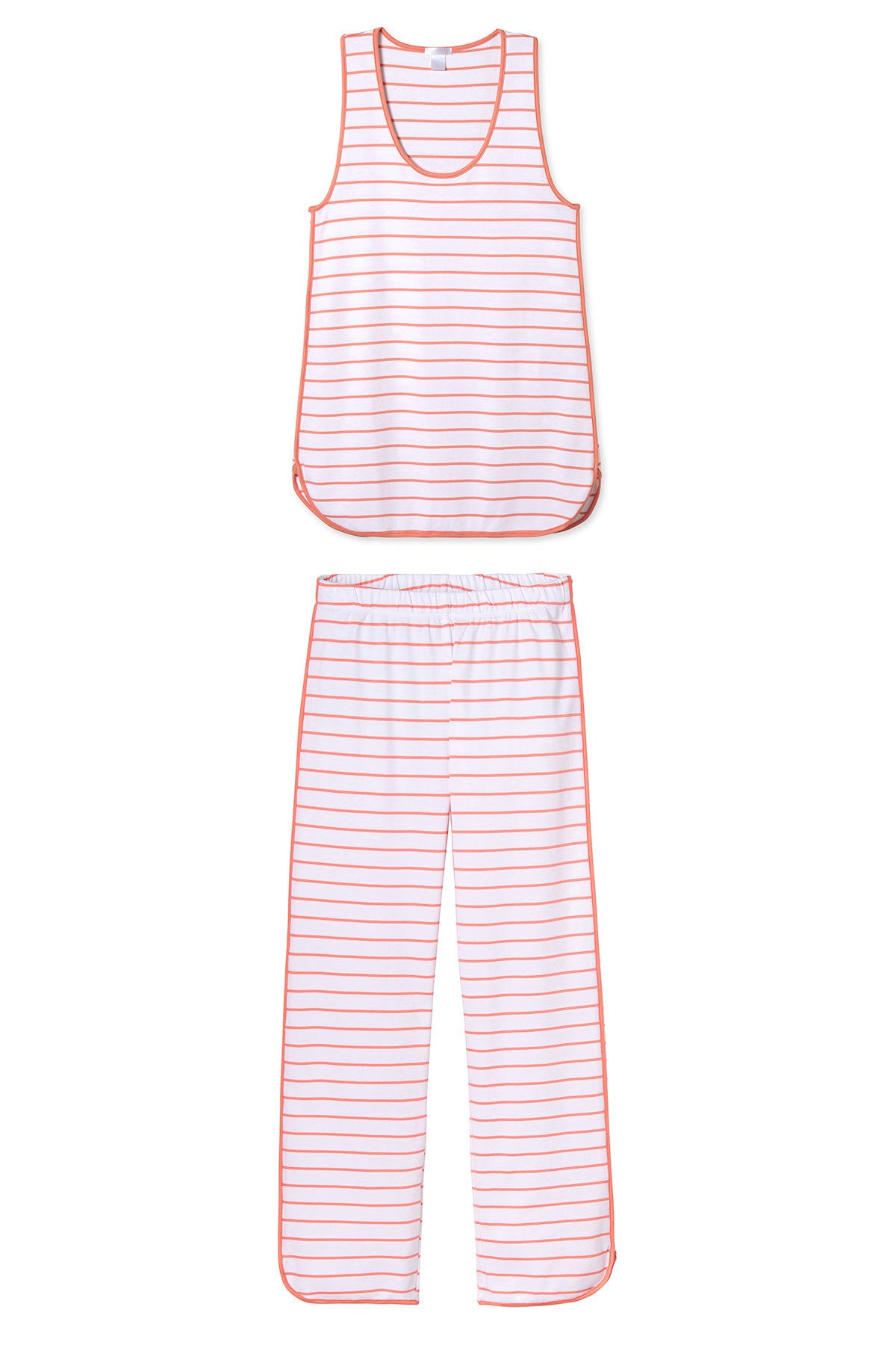 Pima Tank-Long Set in Coral