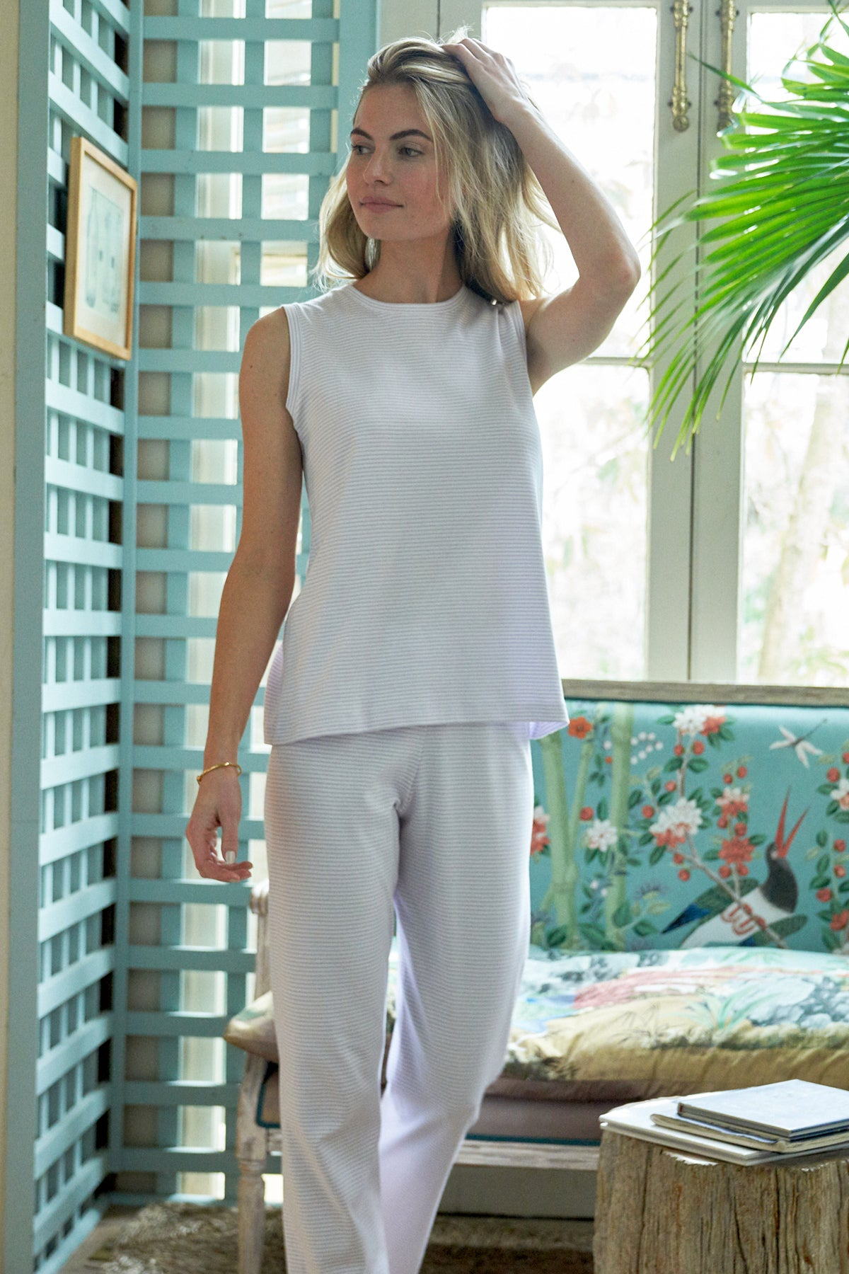 Pima Tank-Long Weekend Set in Wisteria