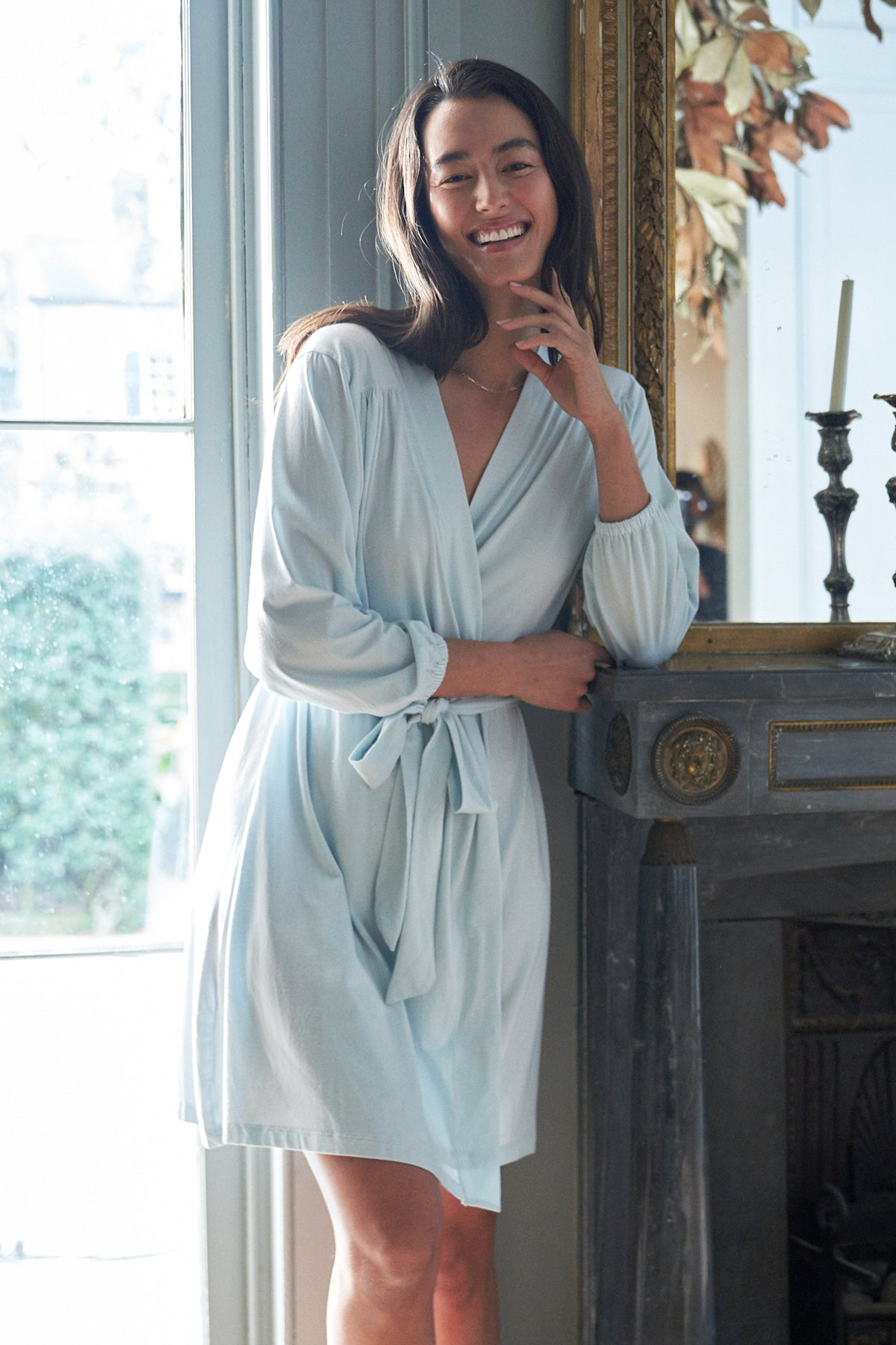DreamKnit Robe in Coastal Blue