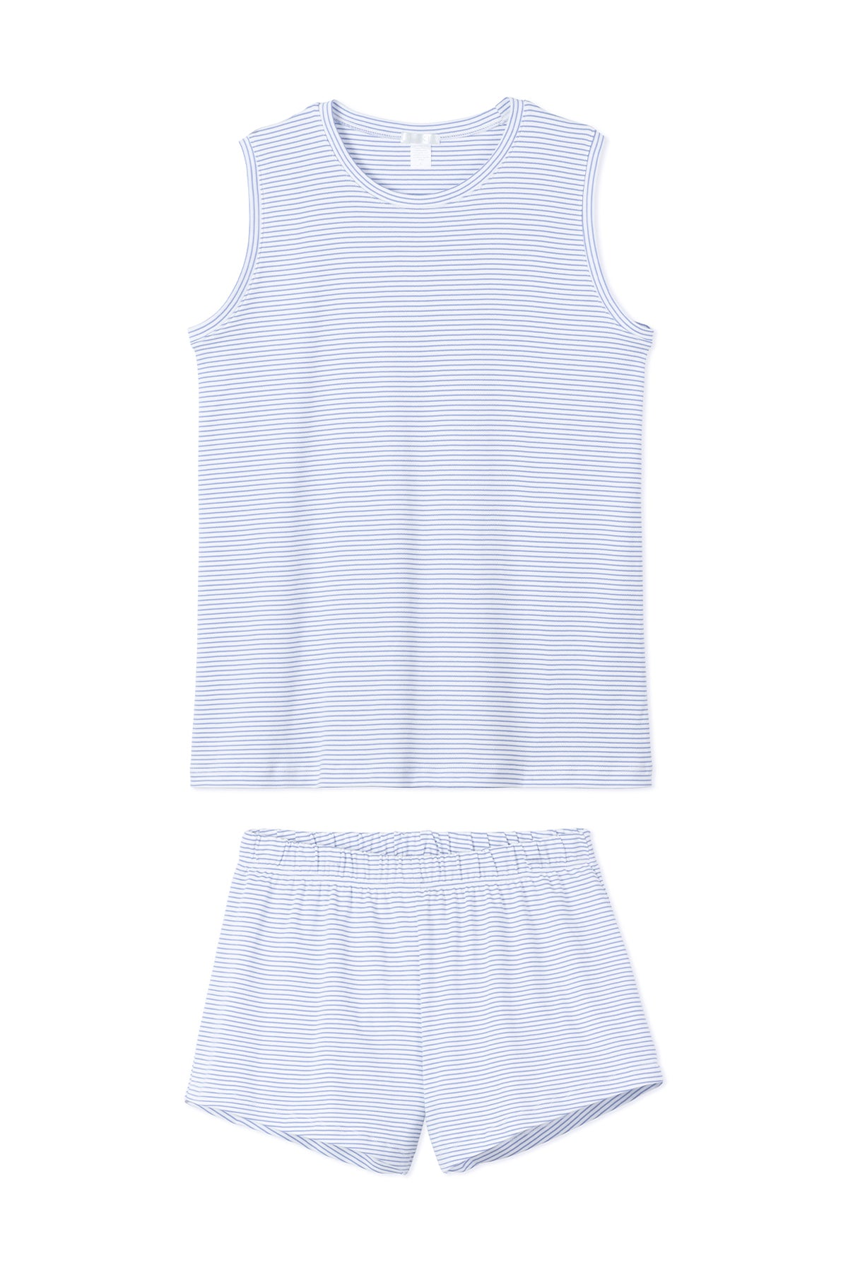 Pima Tank-Short Weekend Set in French Blue