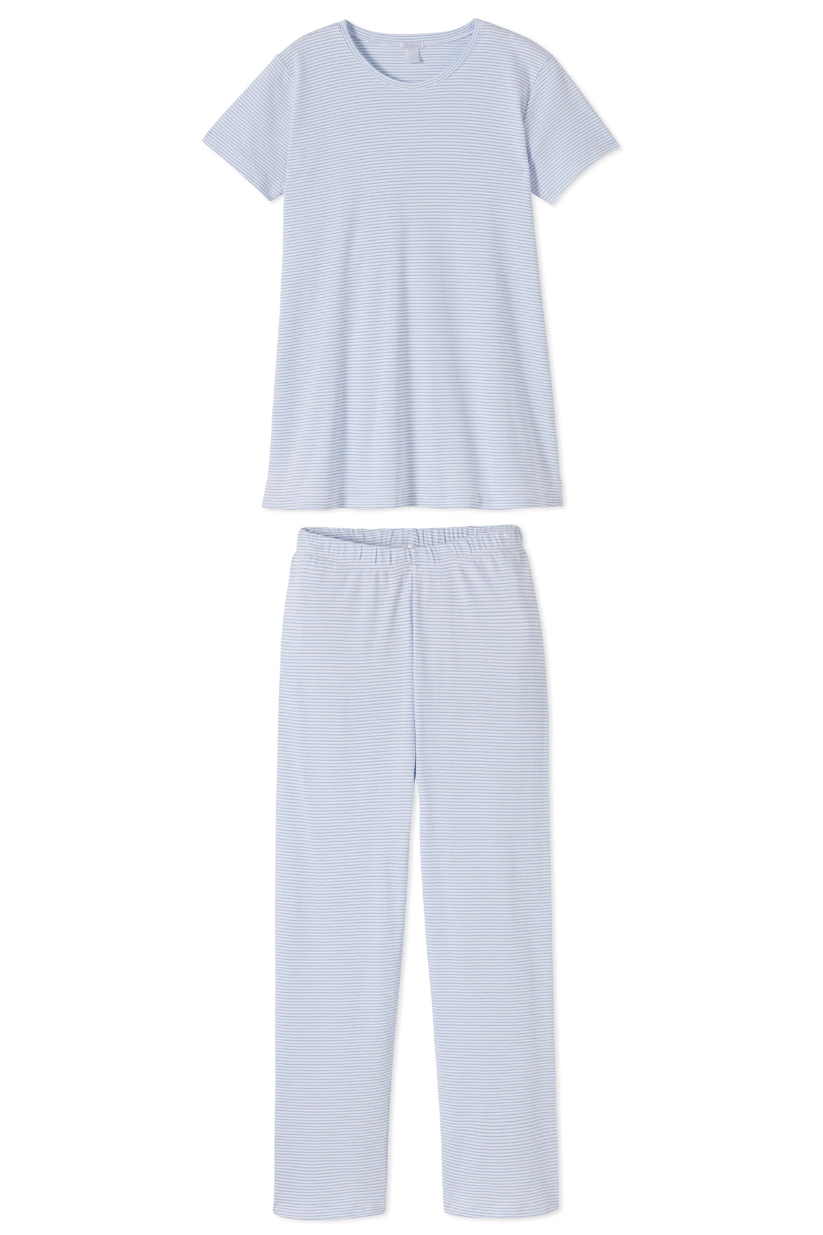 Pima Maternity Short-Long Weekend Set in French Blue