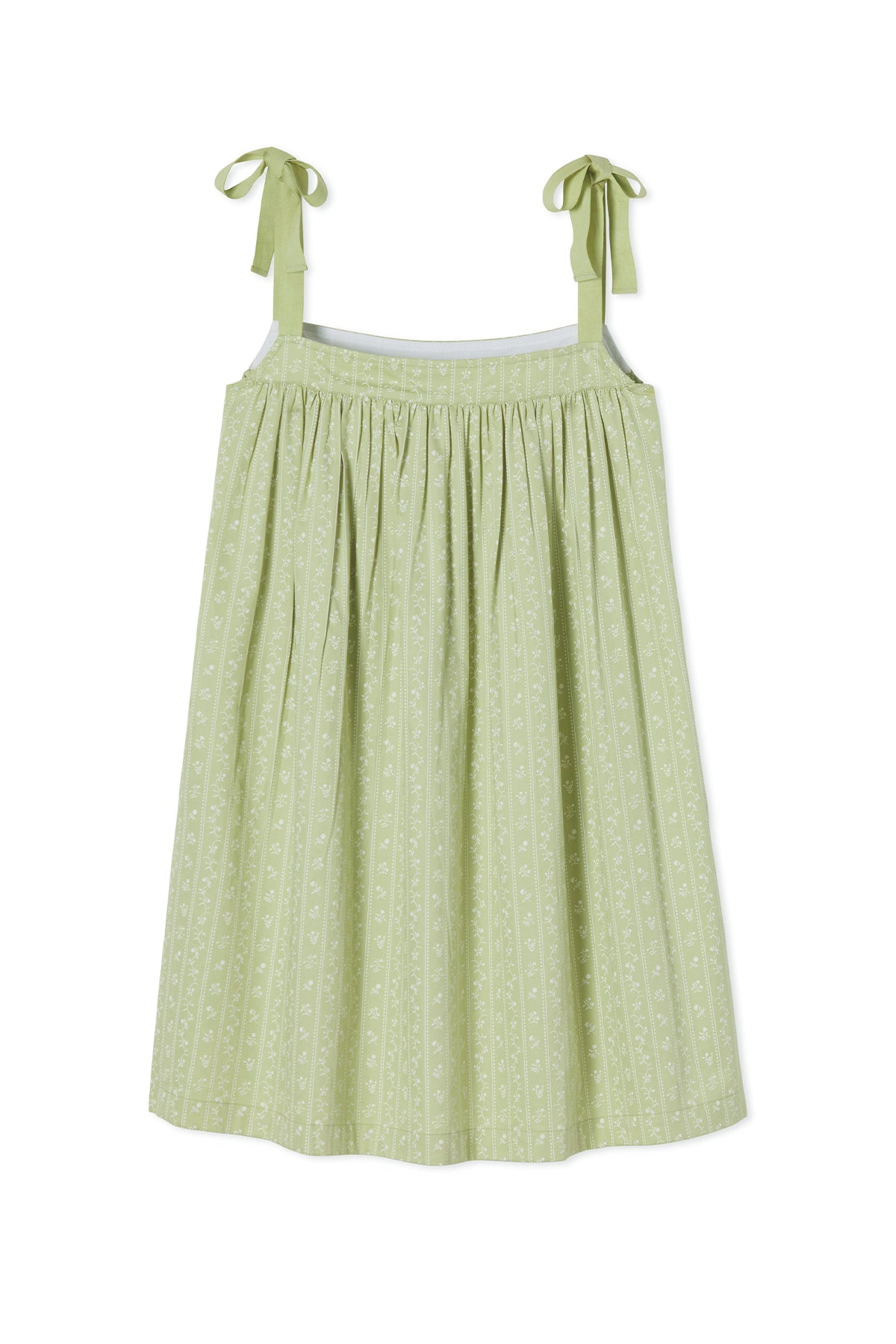 JB x LAKE Day Dress in Green Trellis