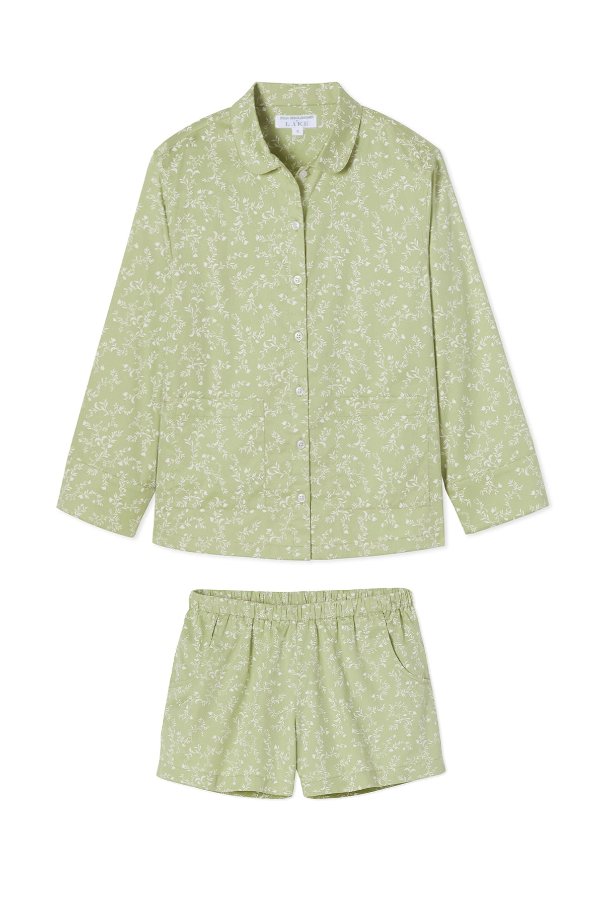 JB x LAKE Poplin Shorts Set in Green Vine