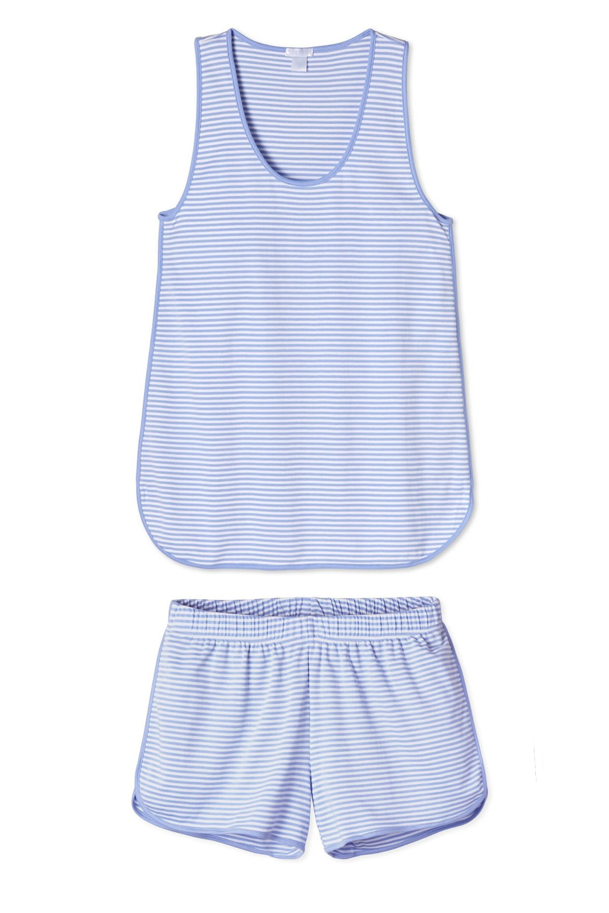 Pima Tank-Short Set in Hydrangea