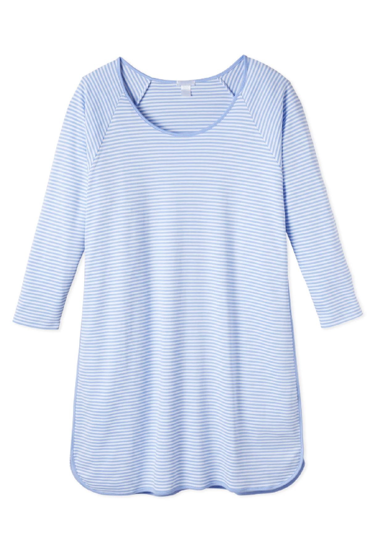 Pima Long Sleeve Nightgown in Hydrangea