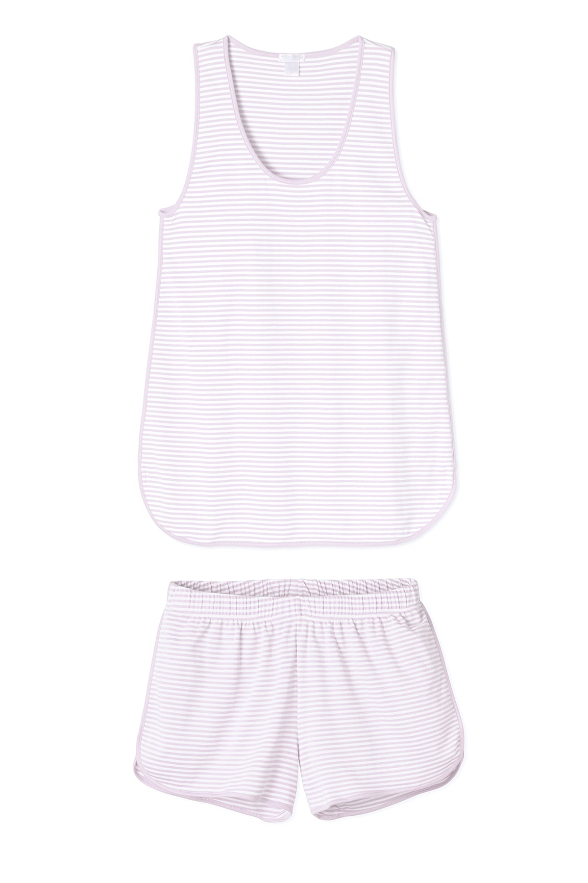 Pima Tank-Short Set in Lavender