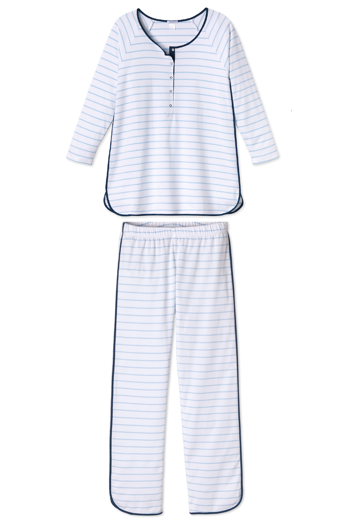 Pima Maternity Long-Long Set in Marine
