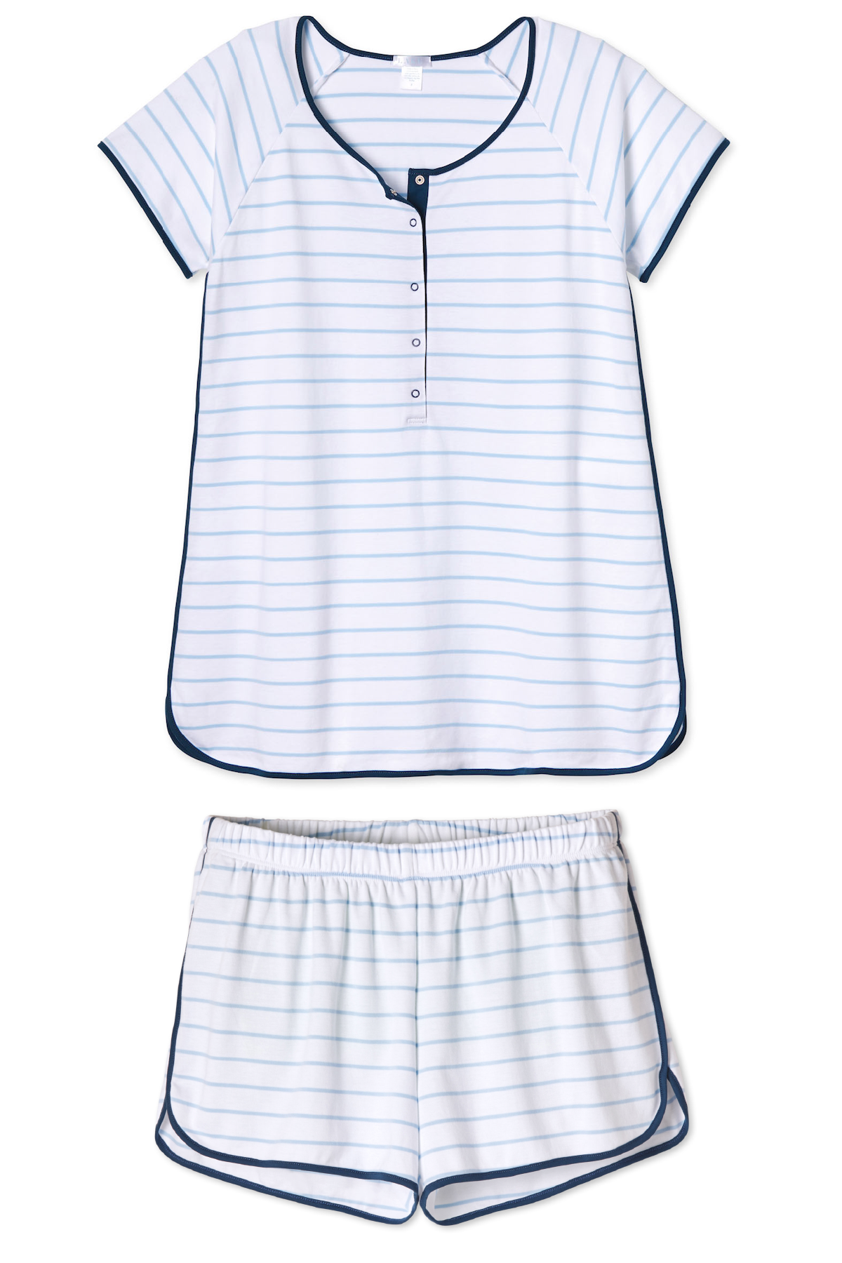Pima Maternity Shorts Set in Marine