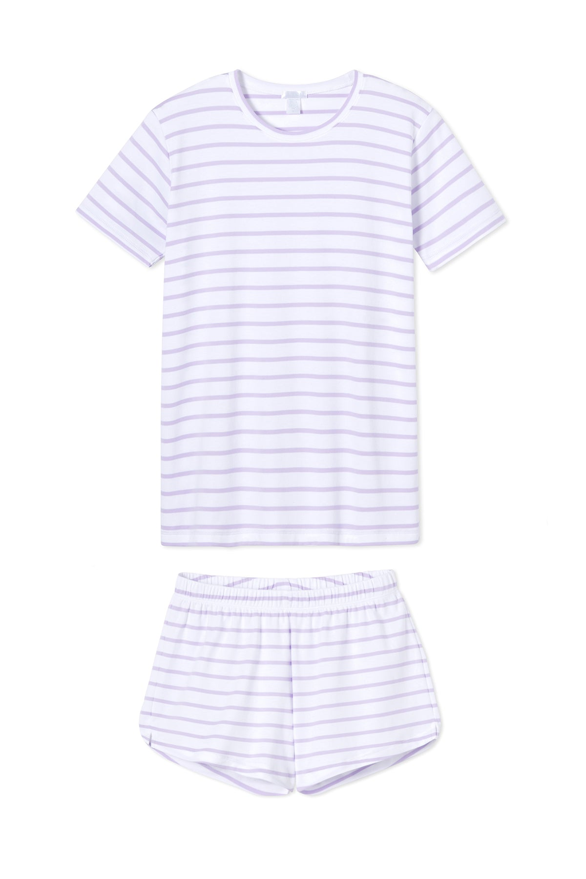Pima Weekend Shorts Set in Lilac