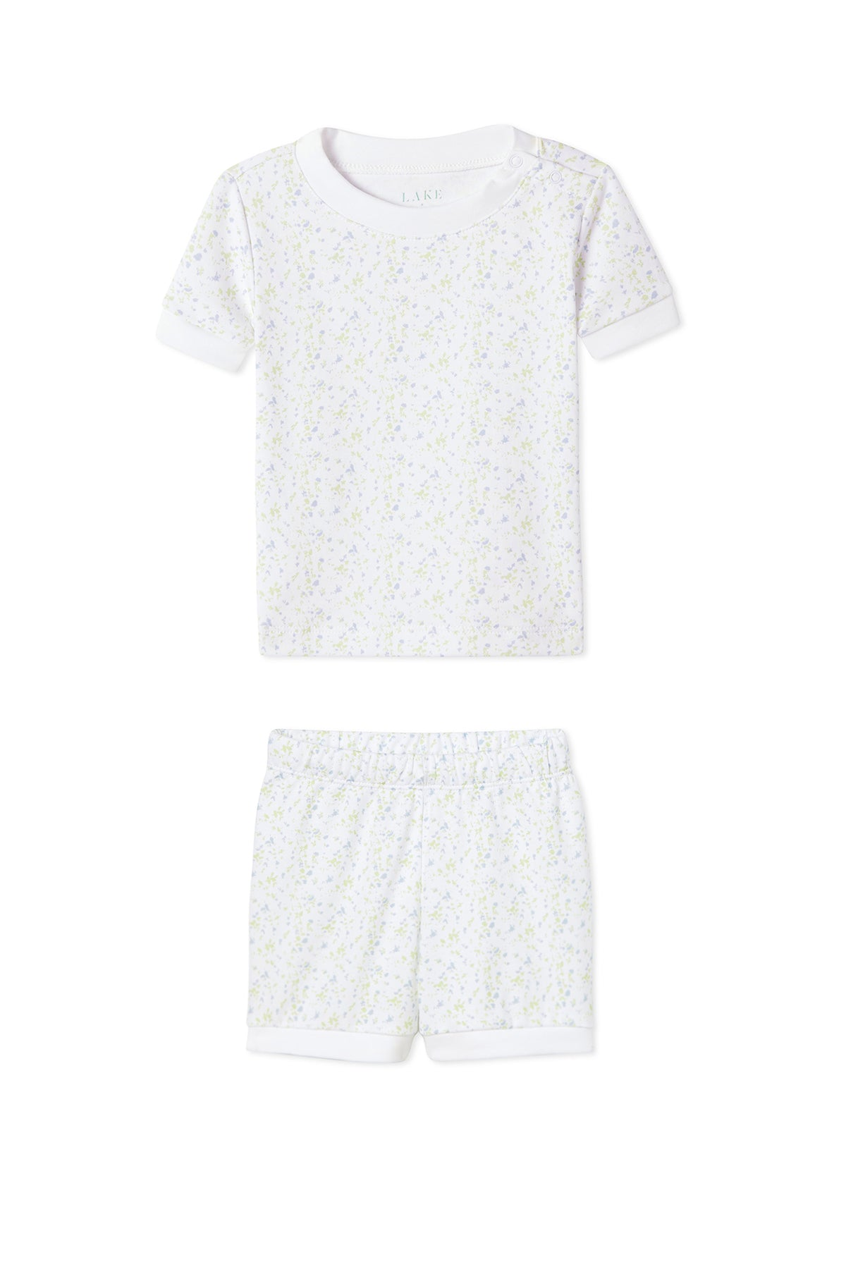 JB x LAKE Baby Shorts Set in Meadow