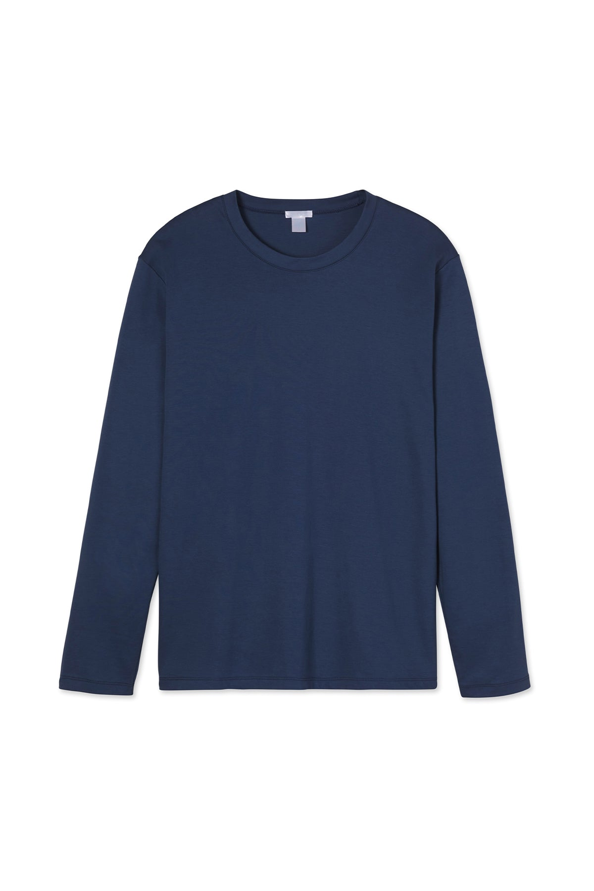 Men's Long Sleeve Pima Tee in True Navy