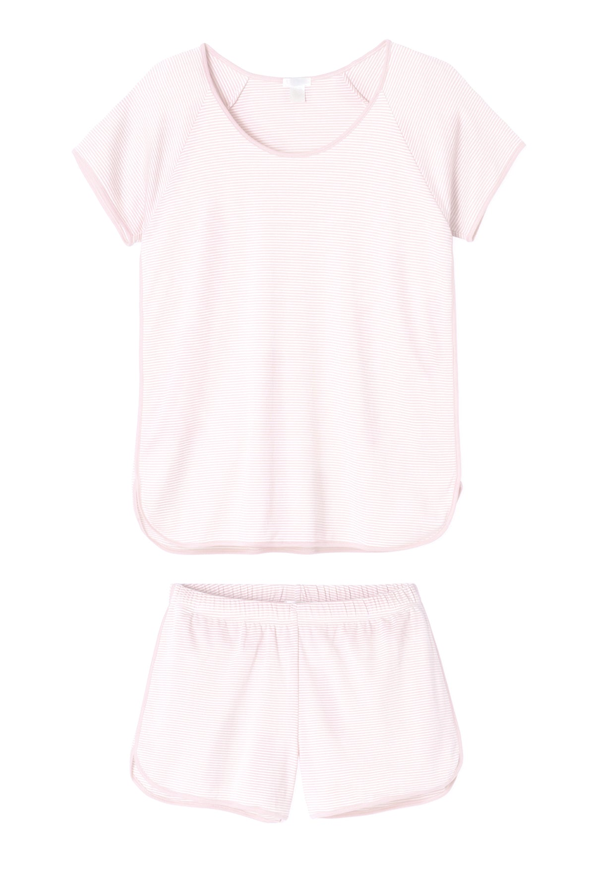 Pima Shorts Set in Pale Pink