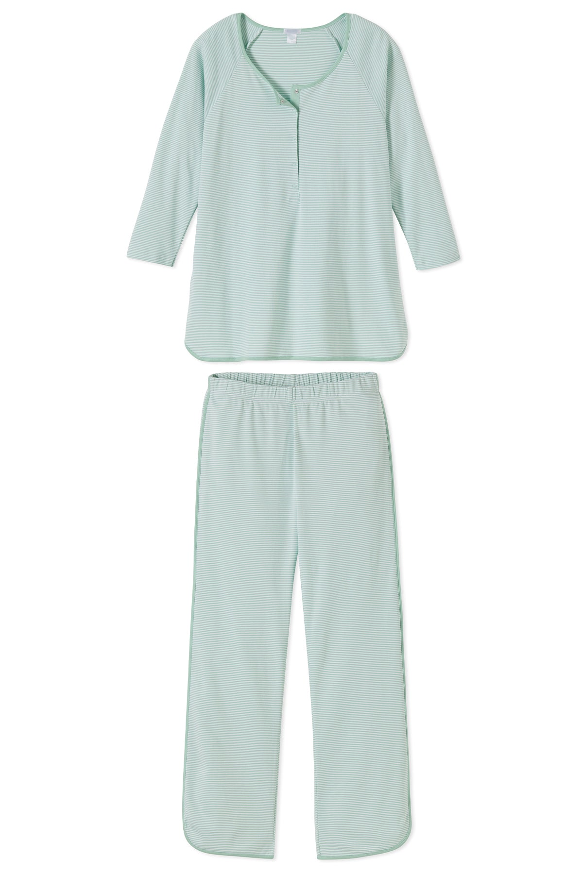 Pima Maternity Long-Long Set in Parisian Green