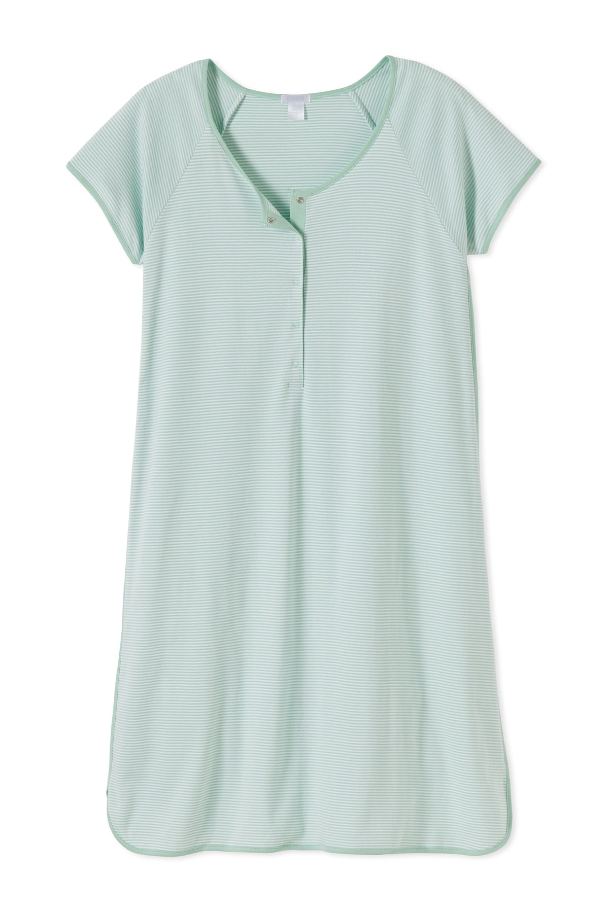 Pima Maternity Nightgown in Parisian Green