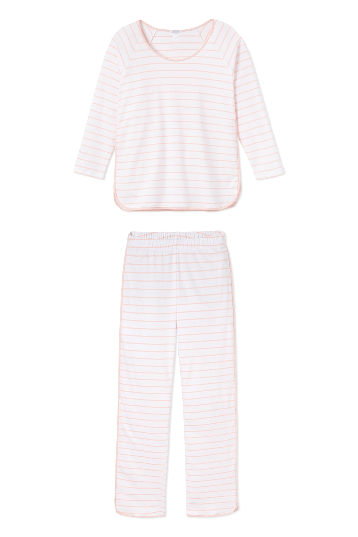 Pima Long-Long Set in Peach