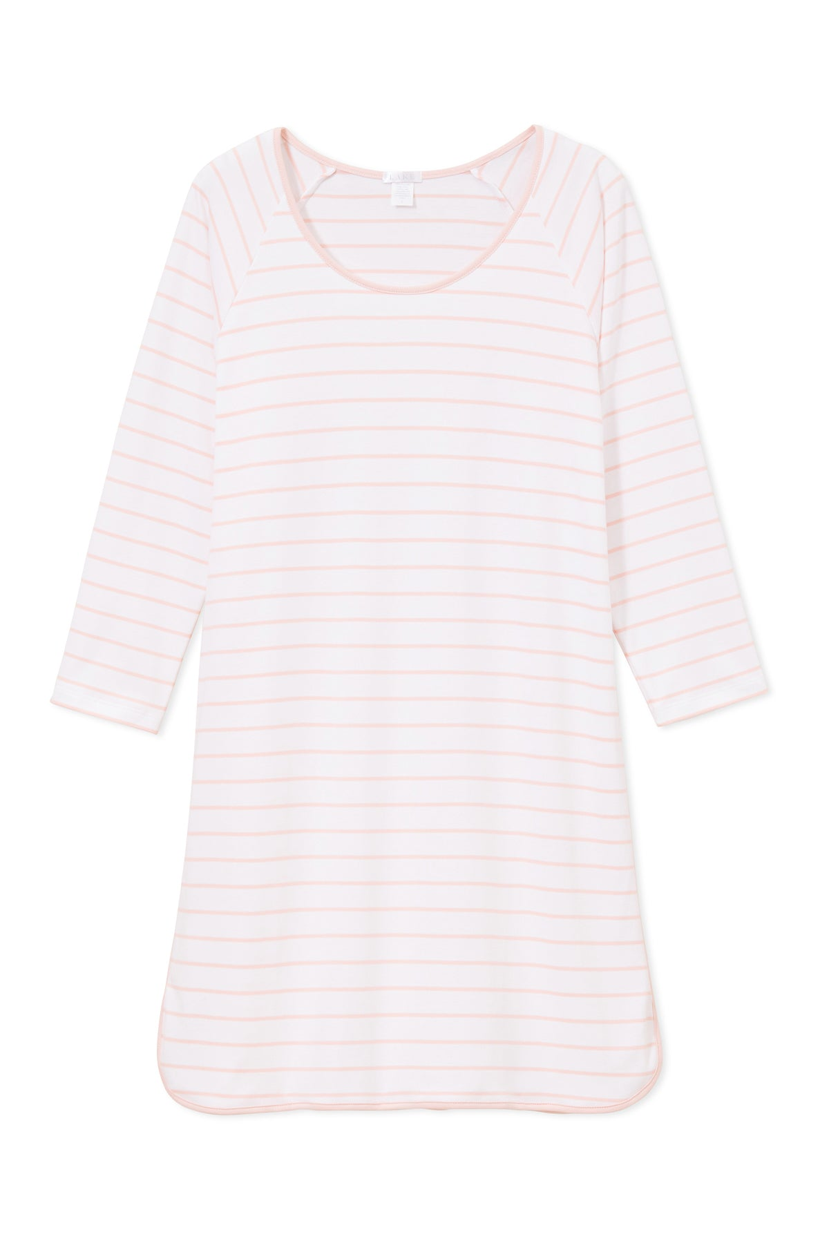Pima Long Sleeve Nightgown in Peach