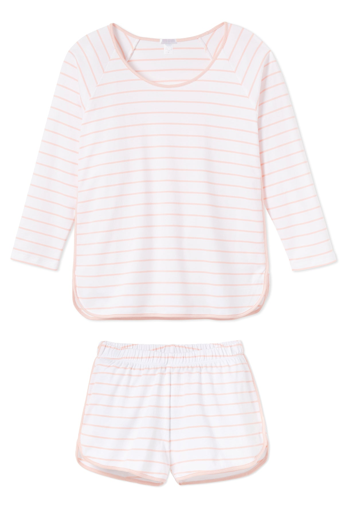 Pima Long-Short Set in Peach