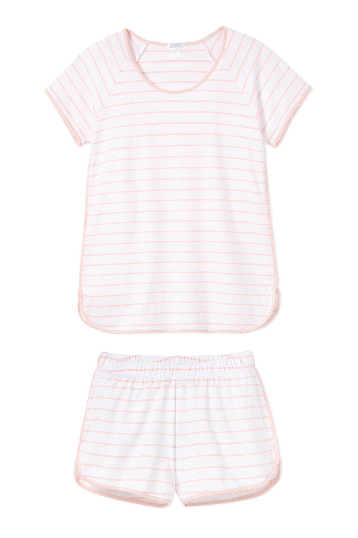 Pima Shorts Set in Peach