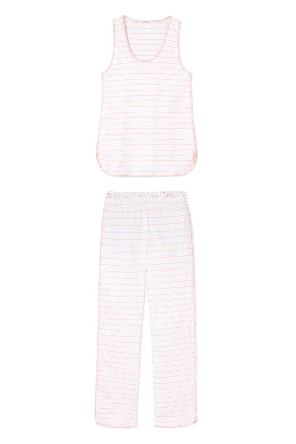Pima Tank-Long Set in Peach