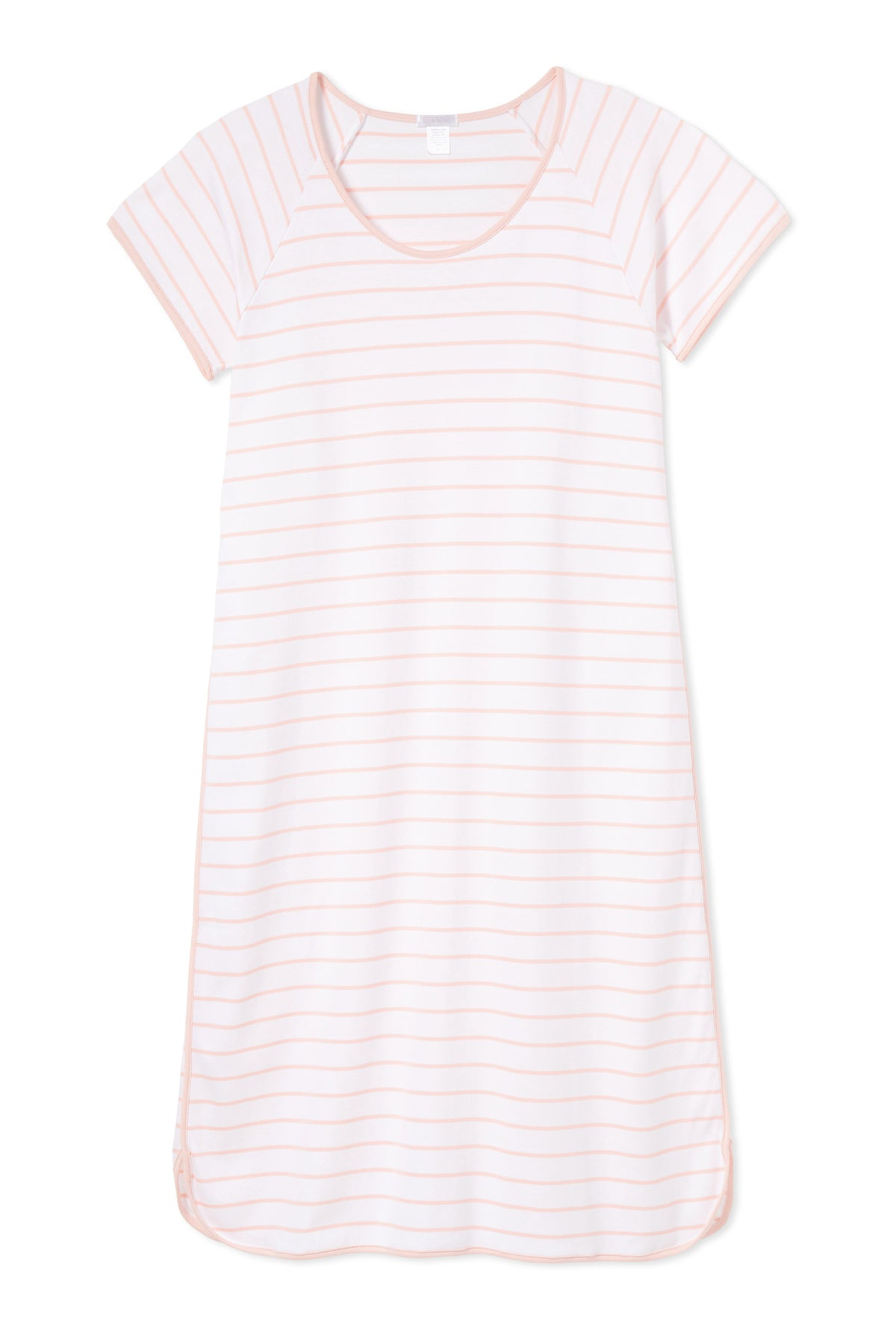 Pima Long Nightgown in Peach