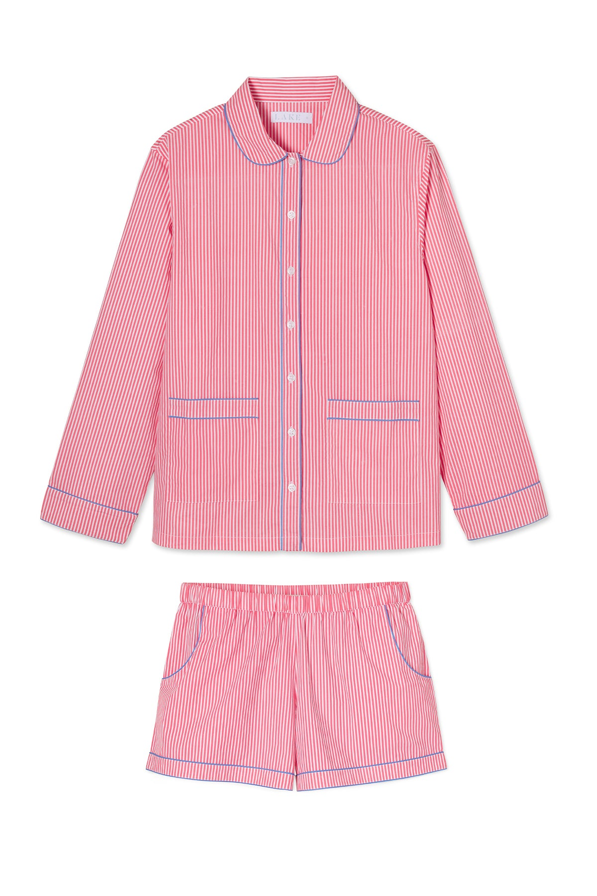 Poplin Piped Shorts Set in Picnic
