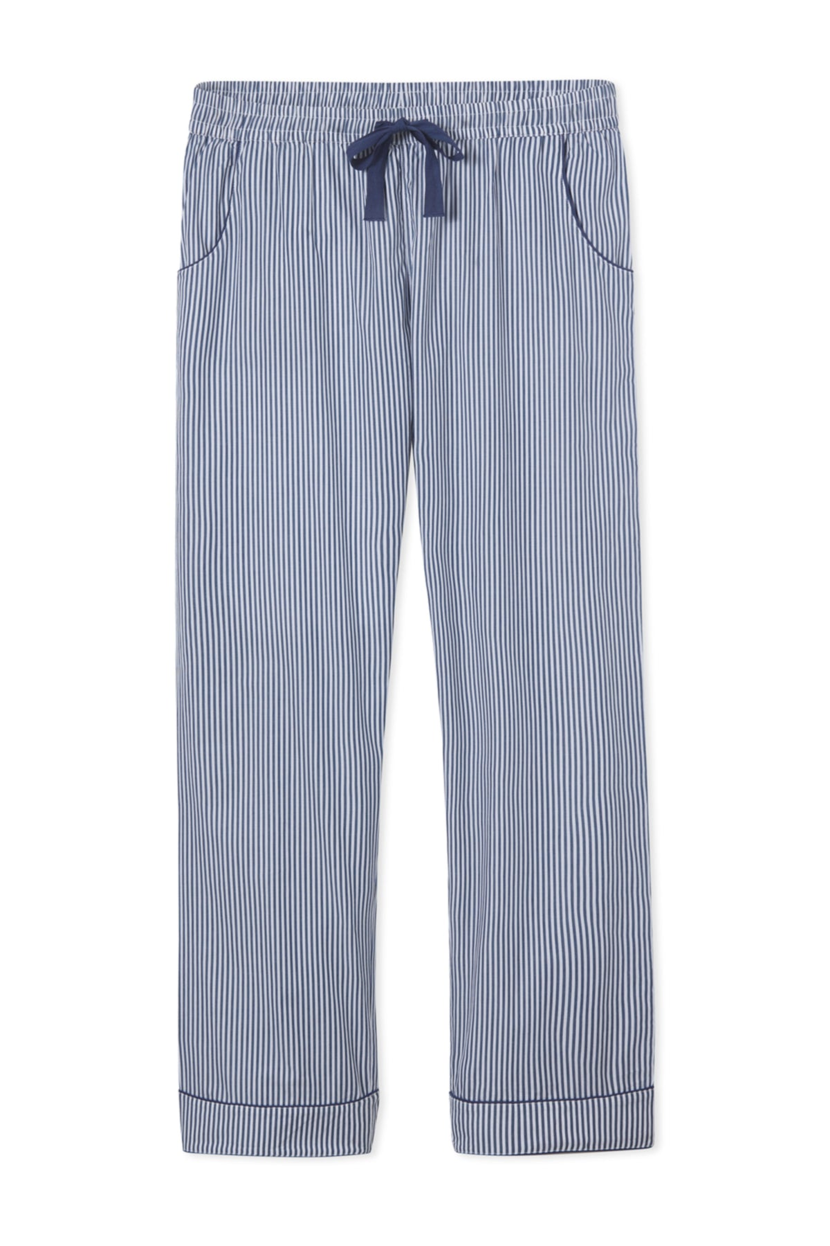 Men's Poplin Pajama Pants in Navy Stripe