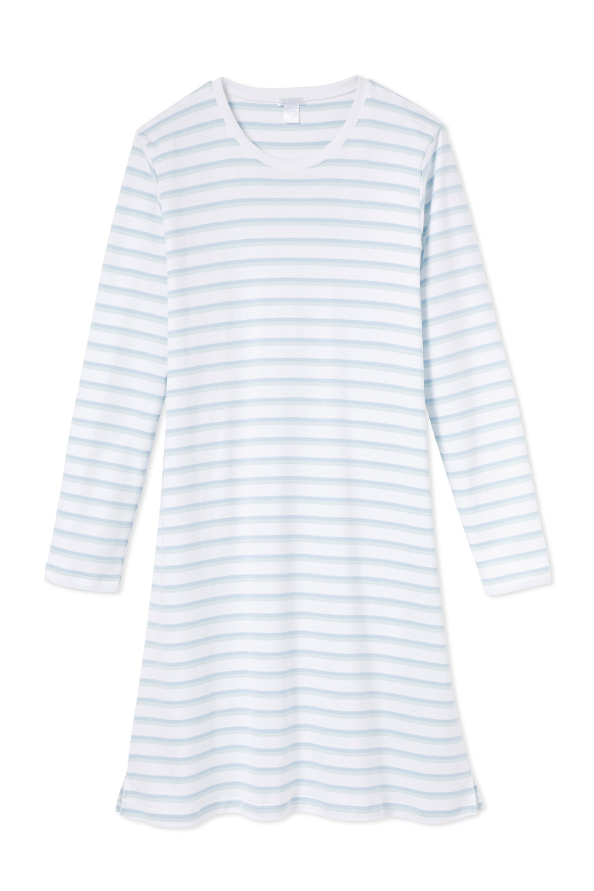 Pima Long Sleeve Weekend Nightgown in Sea Glass