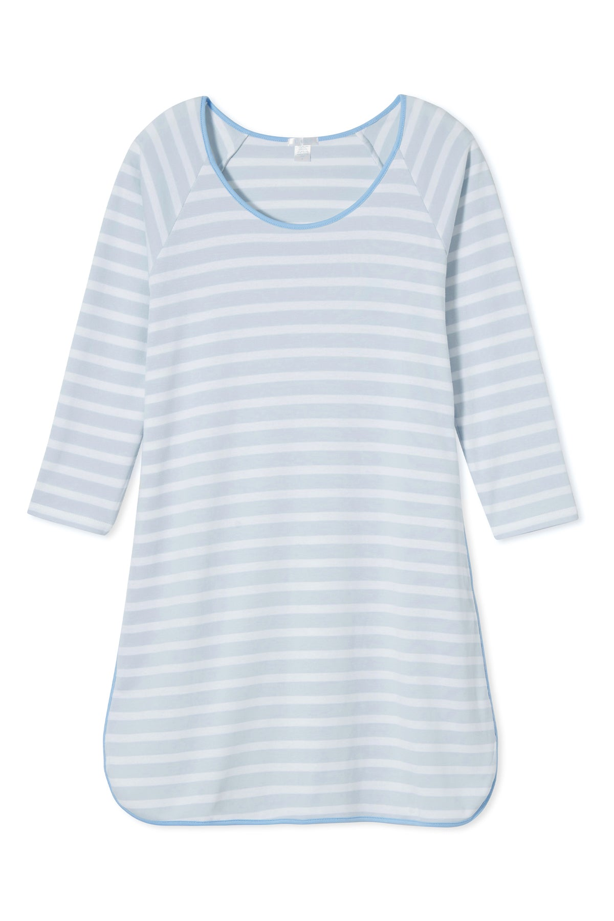 Pima Long Sleeve Nightgown in Seaside