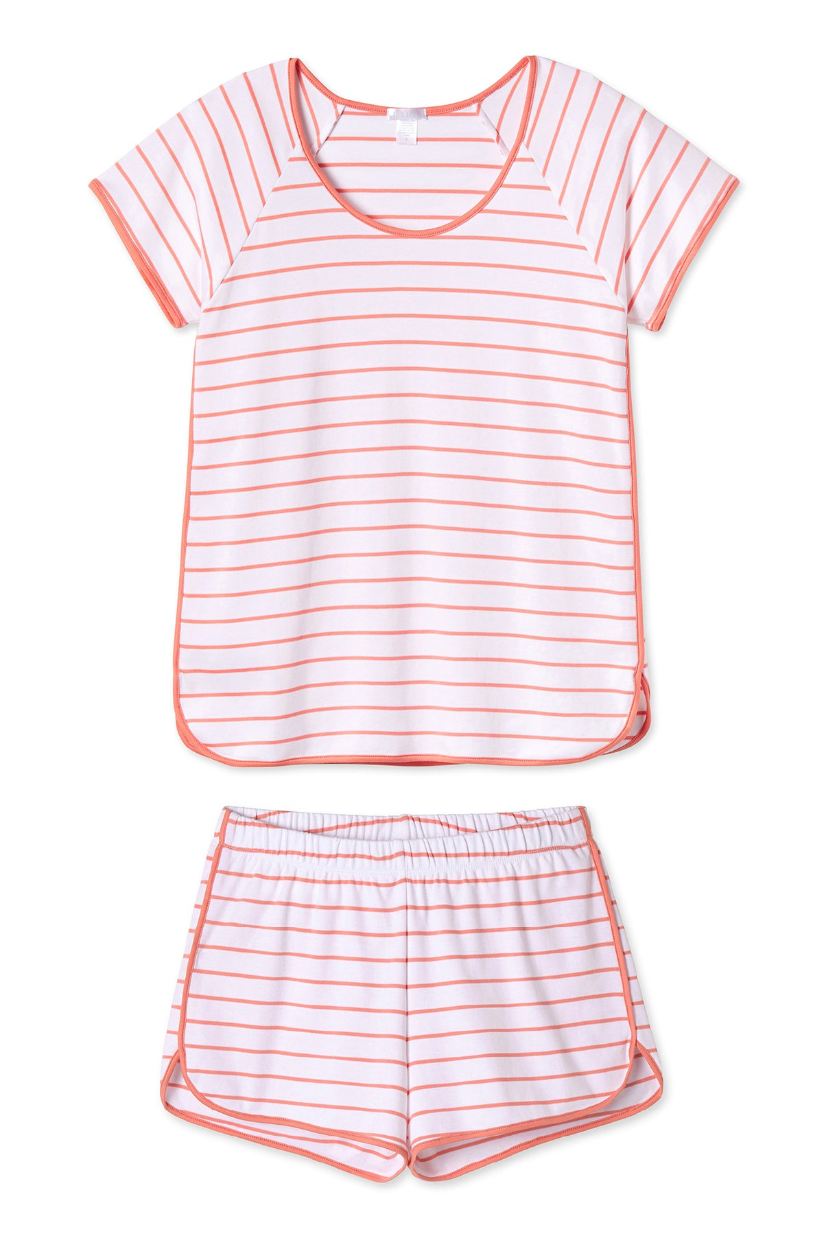 Pima Shorts Set in Coral